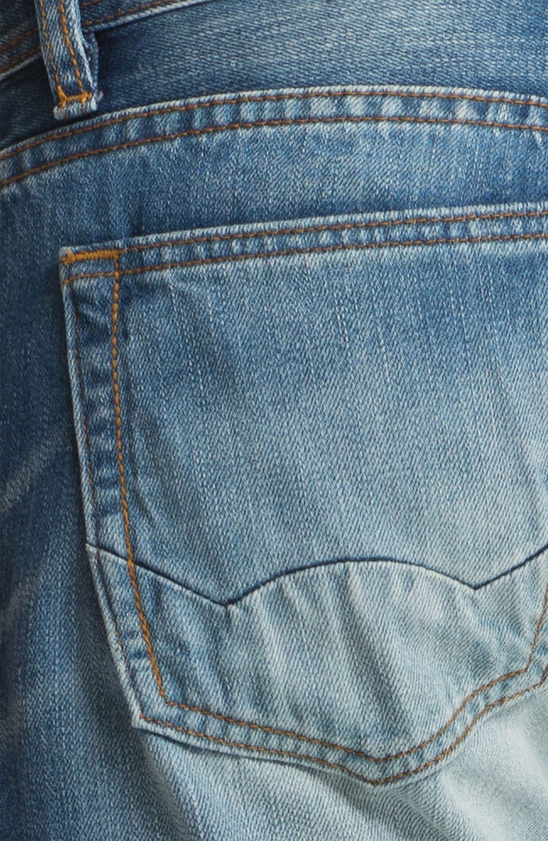 Alternate Image 4  - Cult of Individuality 'Rebel' Straight Leg Selvedge Jeans (Crafted)