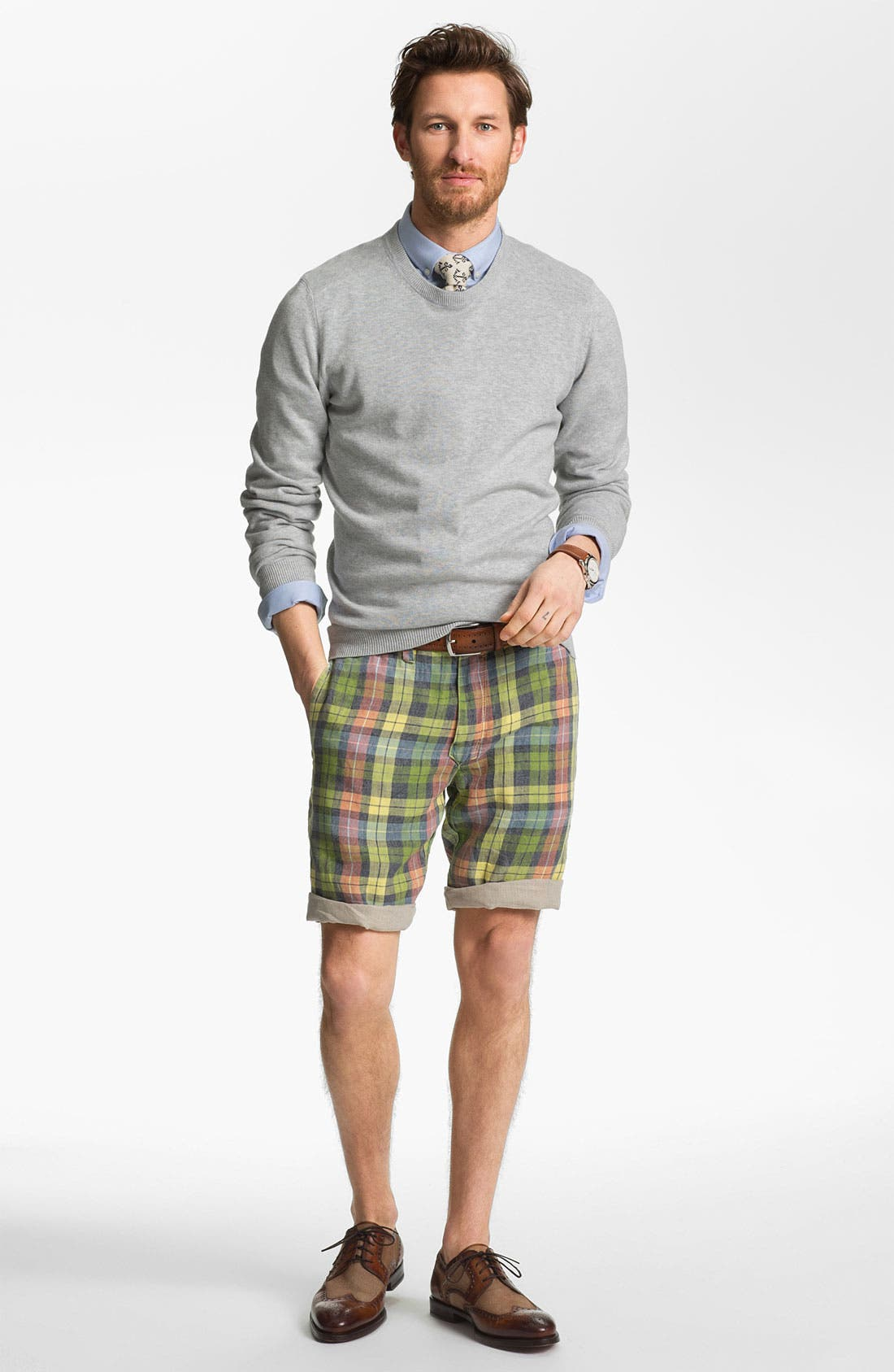 Alternate Image 5  - Tailor Vintage Reversible Linen Shorts