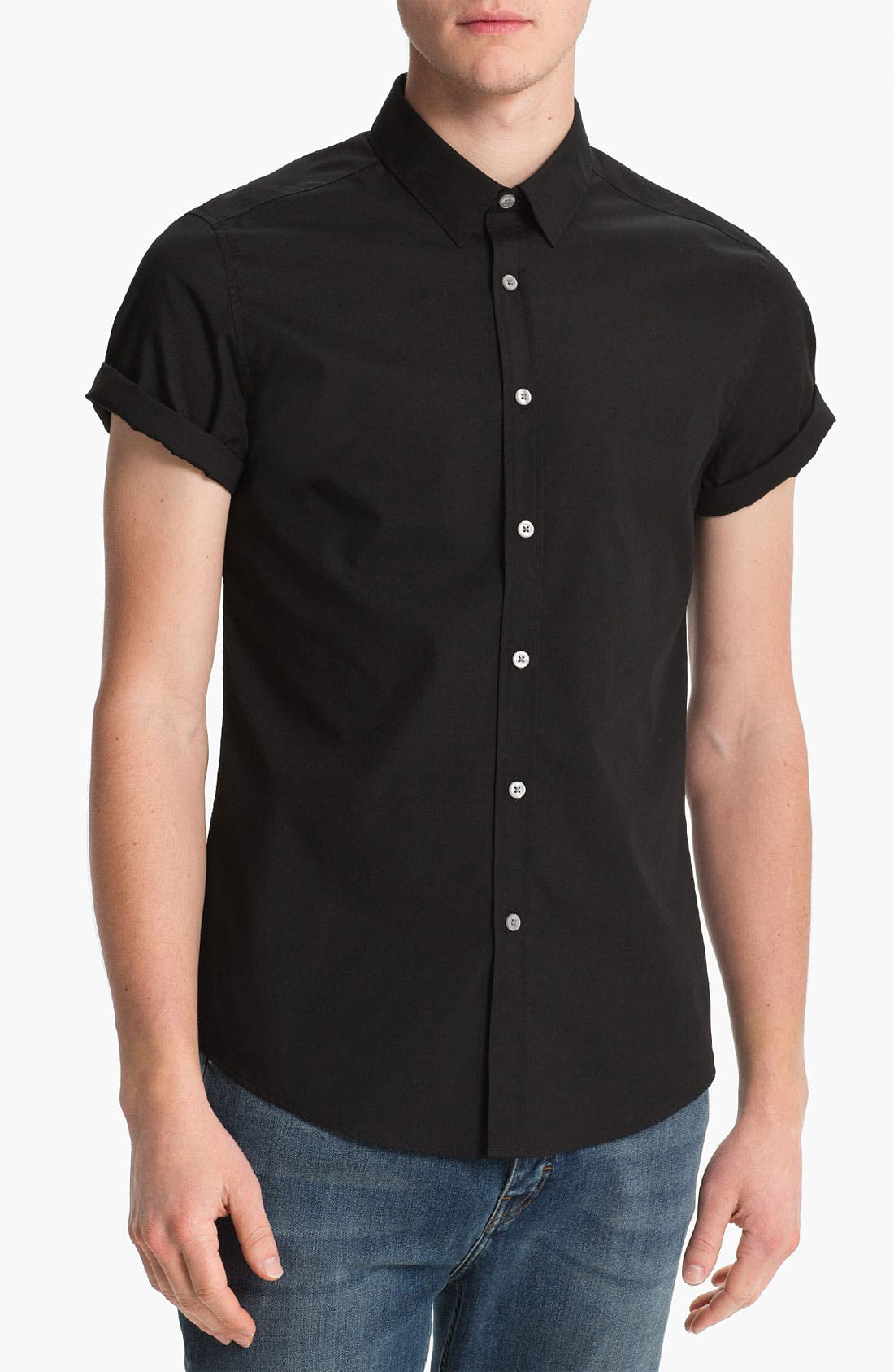 Alternate Image 1 Selected - Topman 'Smart' Short Sleeve Shirt