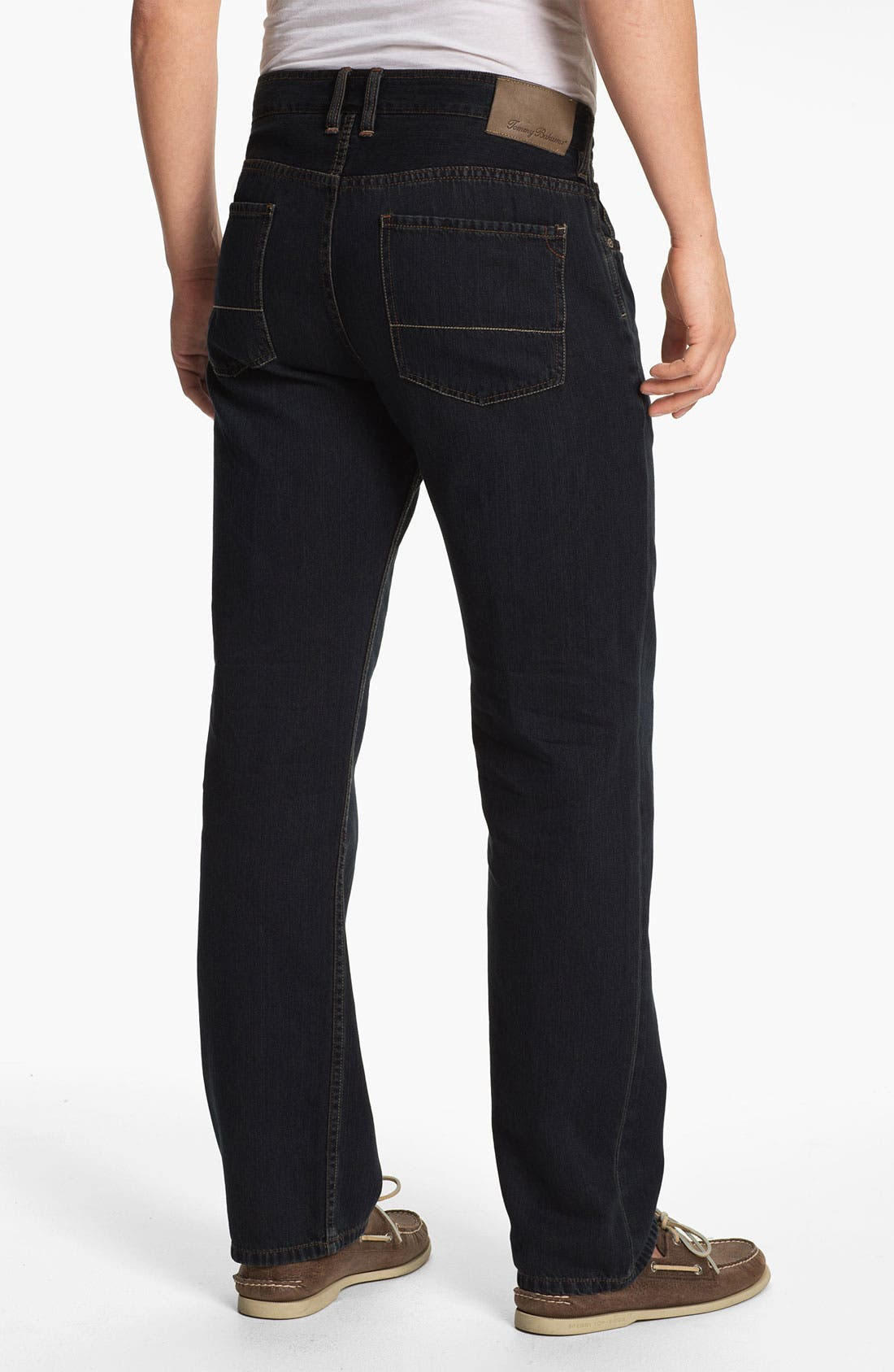 Alternate Image 2  - Tommy Bahama Denim 'Coastal Island Ease' Straight Leg Jeans (Black Overdye)