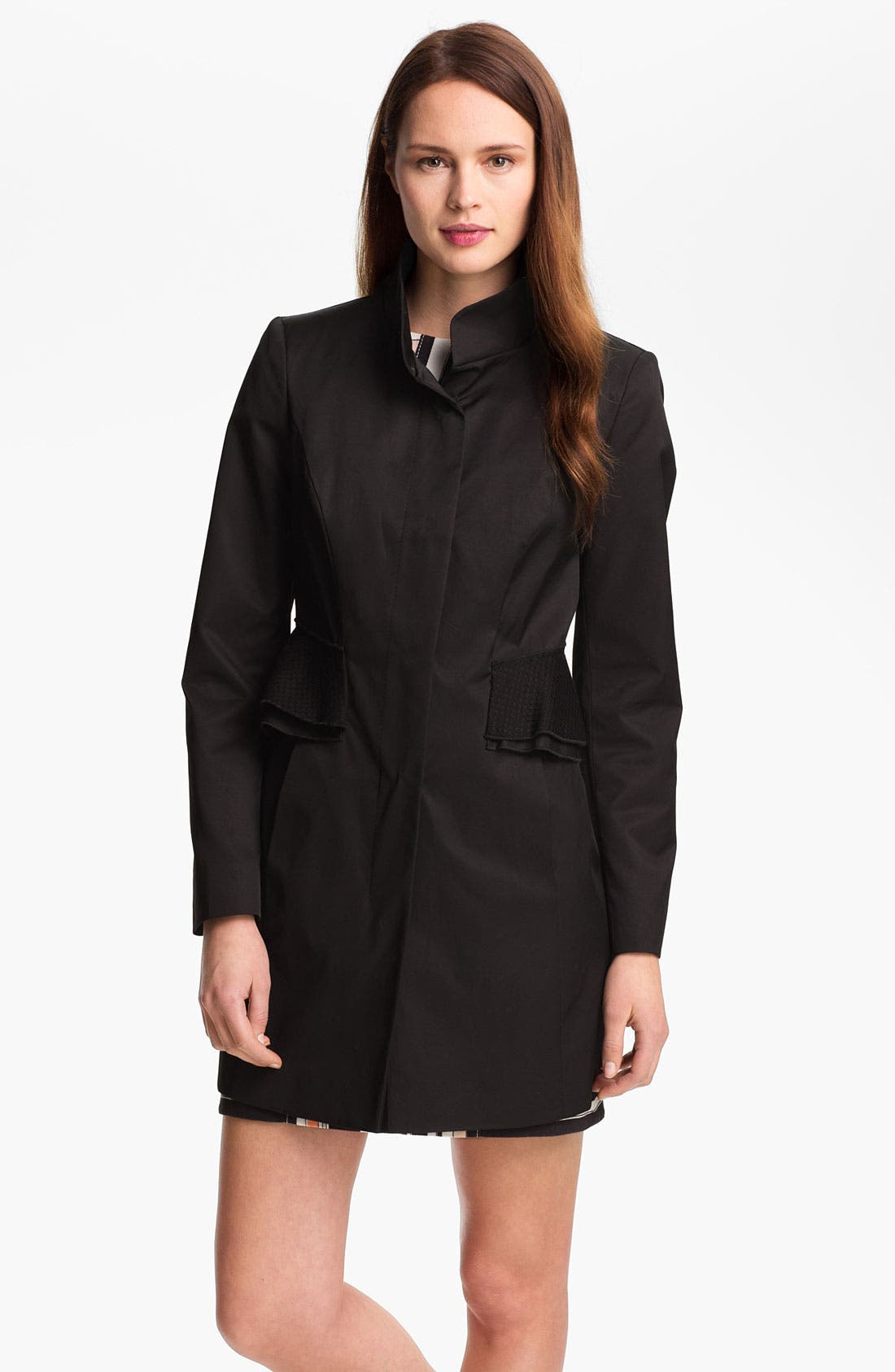 Main Image - Tahari 'Jenna' Peplum Walking Coat (Online Only)