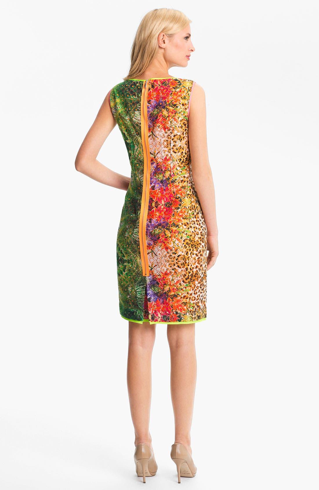 Alternate Image 2  - Elie Tahari 'Claudia - Tropical Leopard' Dress