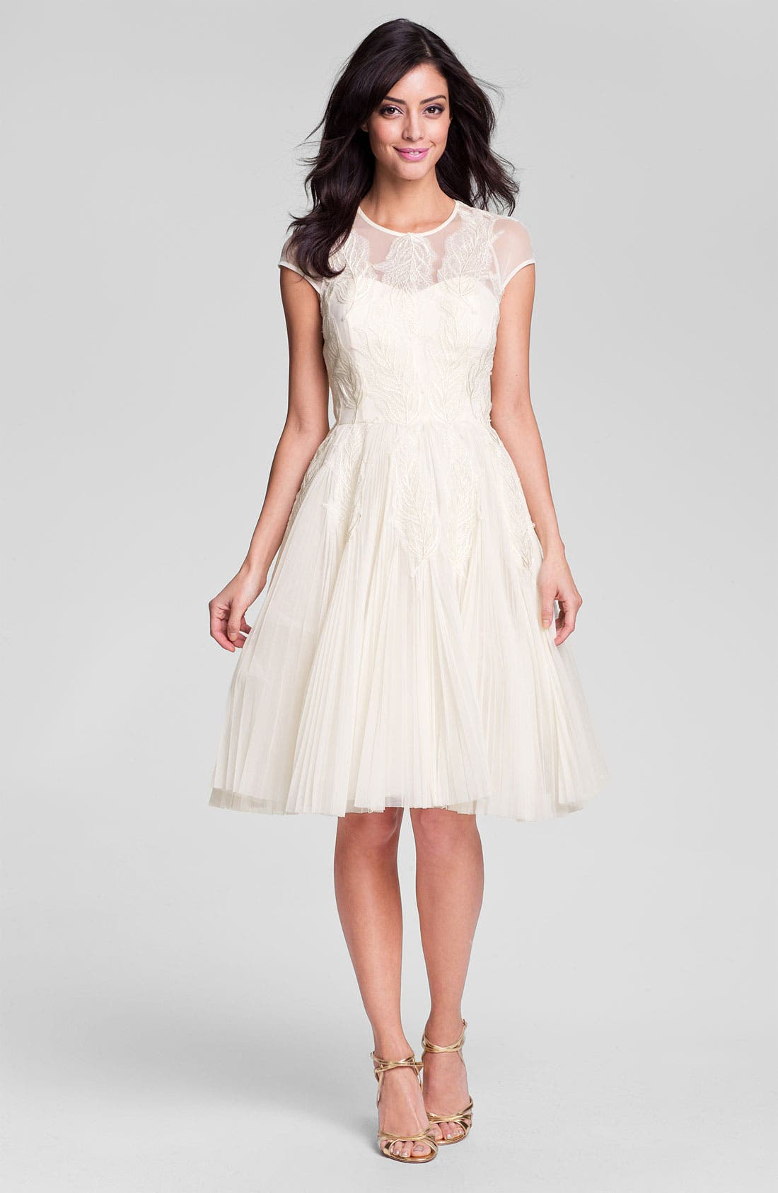Alternate Image 3  - Ted Baker London 'Miyaa' Embroidered Mesh Fit & Flare Dress