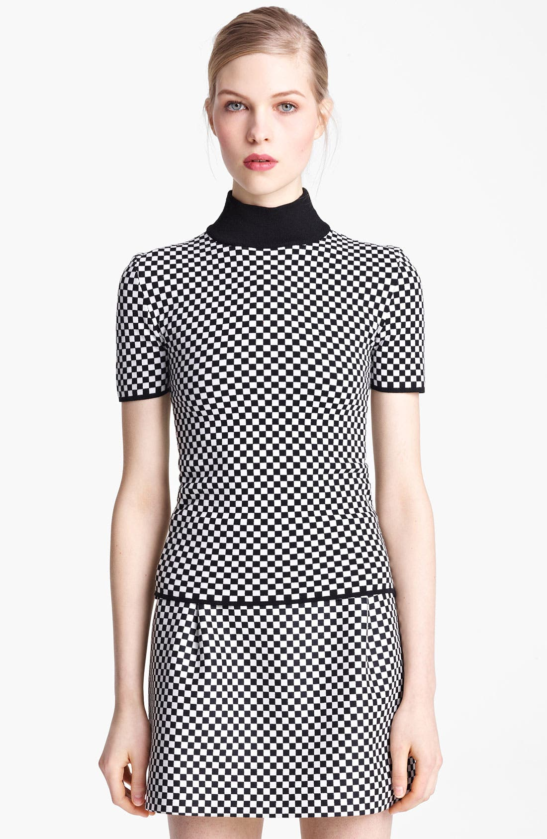 Alternate Image 2  - Michael Kors Optic Check Mock Neck Sweater