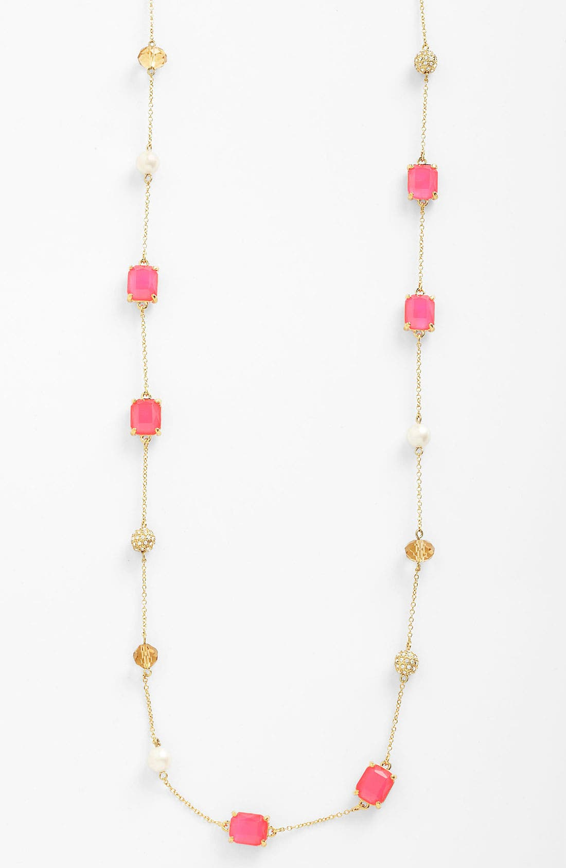 Main Image - kate spade new york 'bijoux bijoux' long station necklace