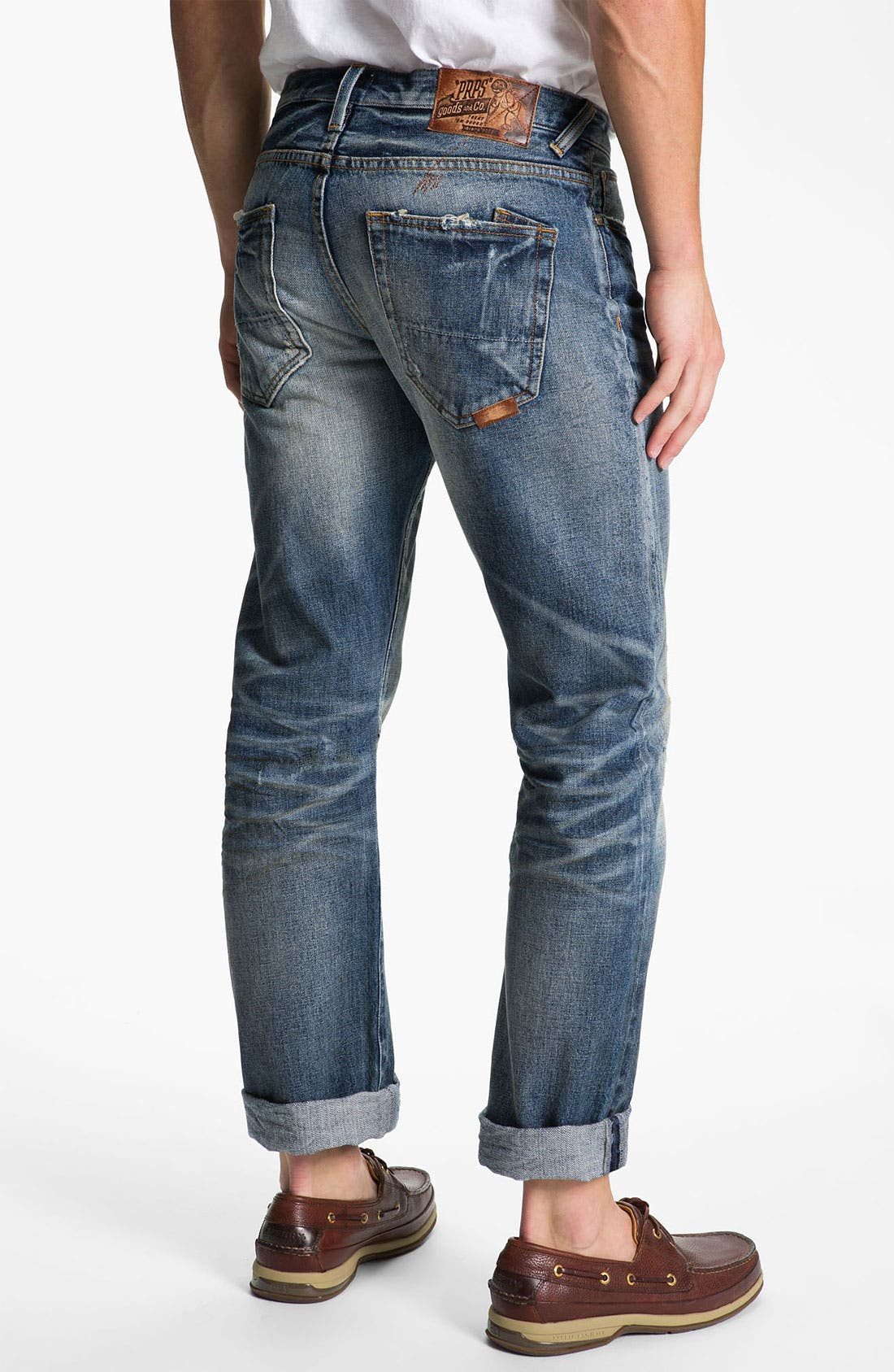 Alternate Image 1 Selected - PRPS 'Barracuda' Straight Leg Jeans (Light Wash)