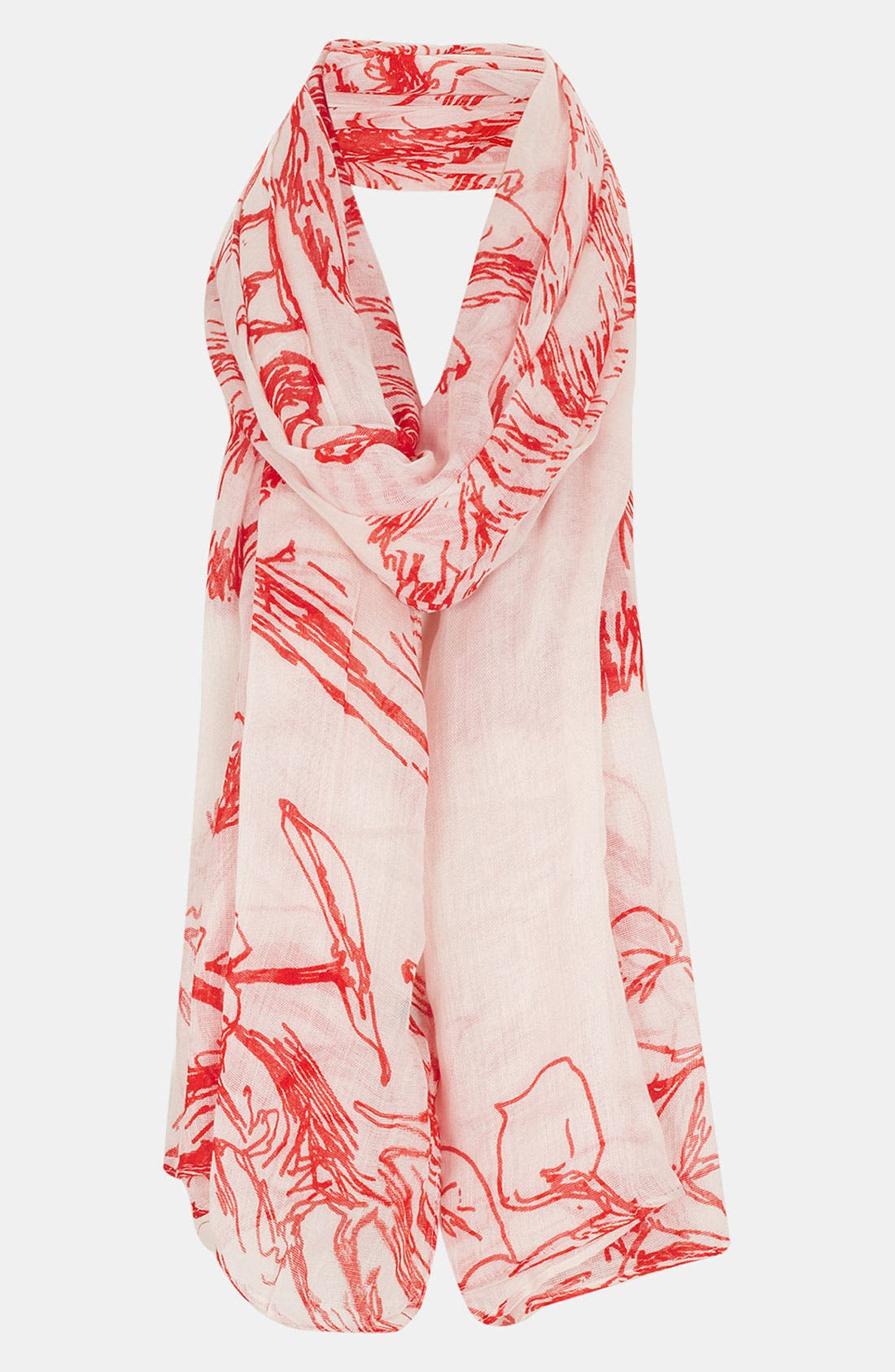 Alternate Image 1 Selected - Topshop 'Sketchy Fox' Scarf