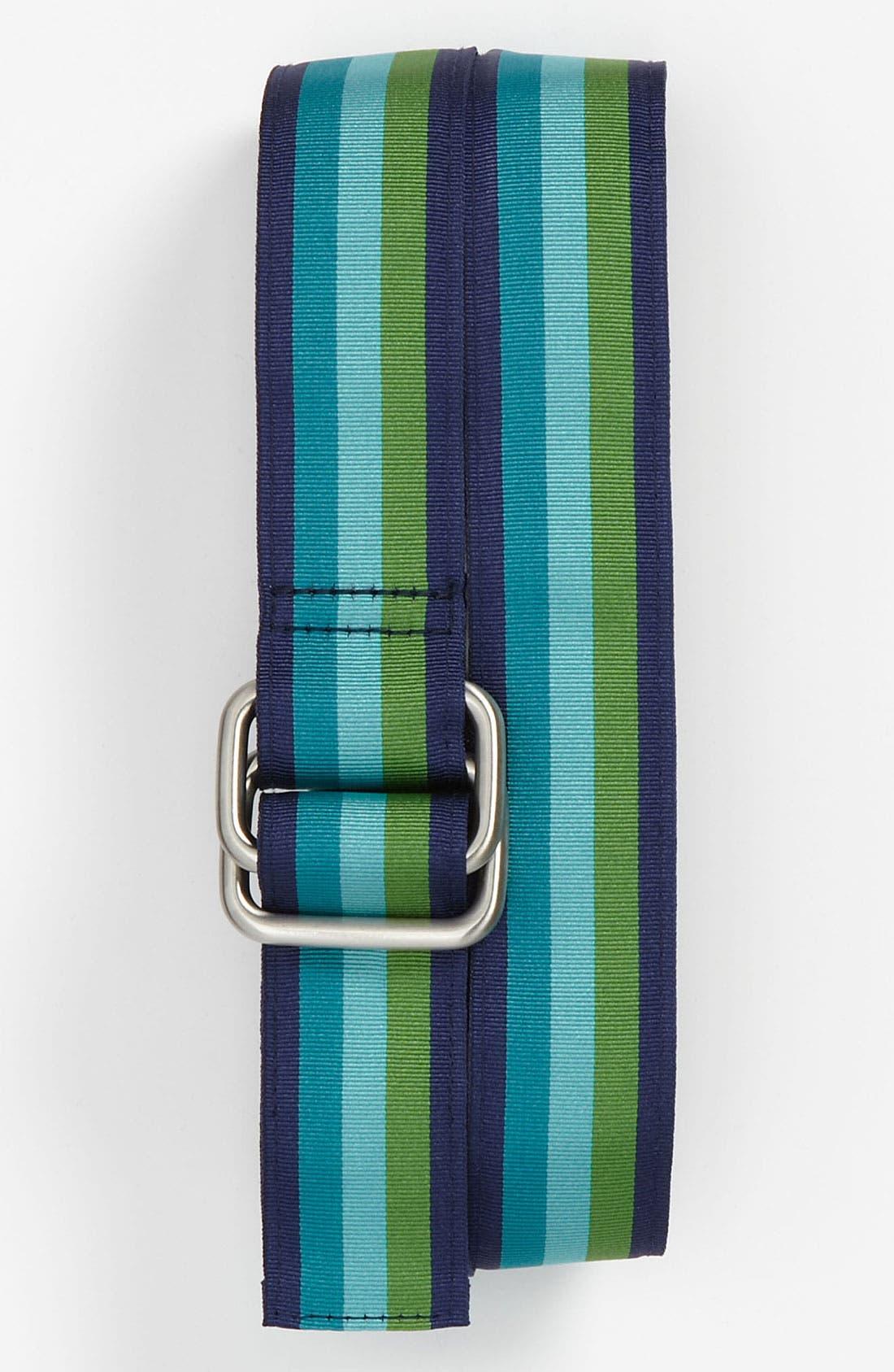 Main Image - Brooks Brothers Ribbon Stripe Belt