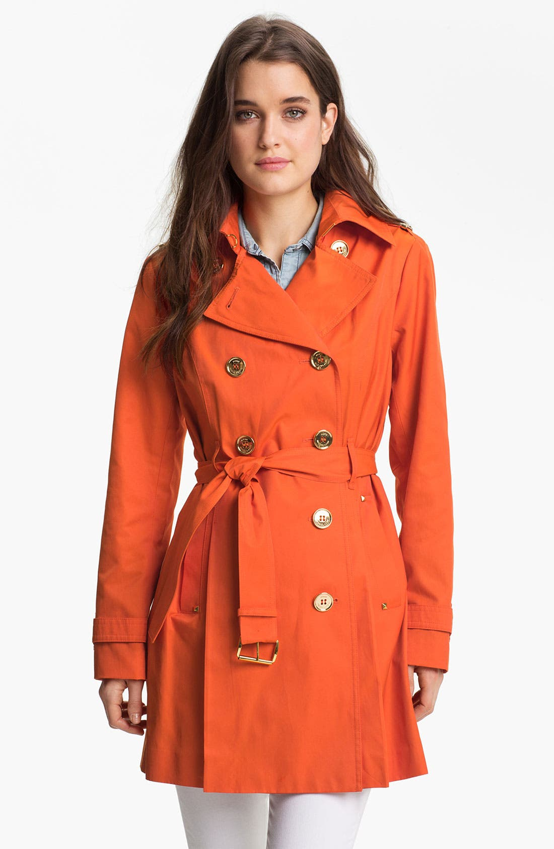 Main Image - MICHAEL Michael Kors Double Breasted Trench Coat