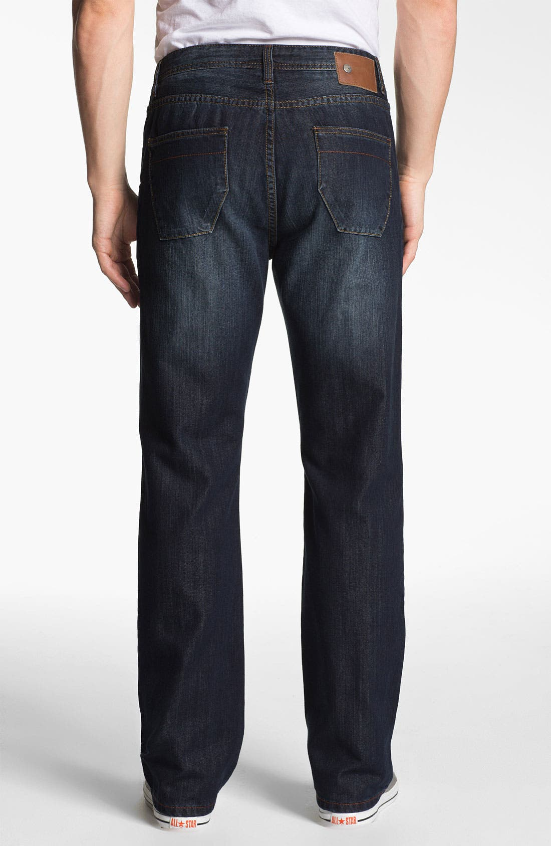 Alternate Image 2  - ROAD 'Freedom' Relaxed Fit Straight Leg Jeans (Dark Vintage)