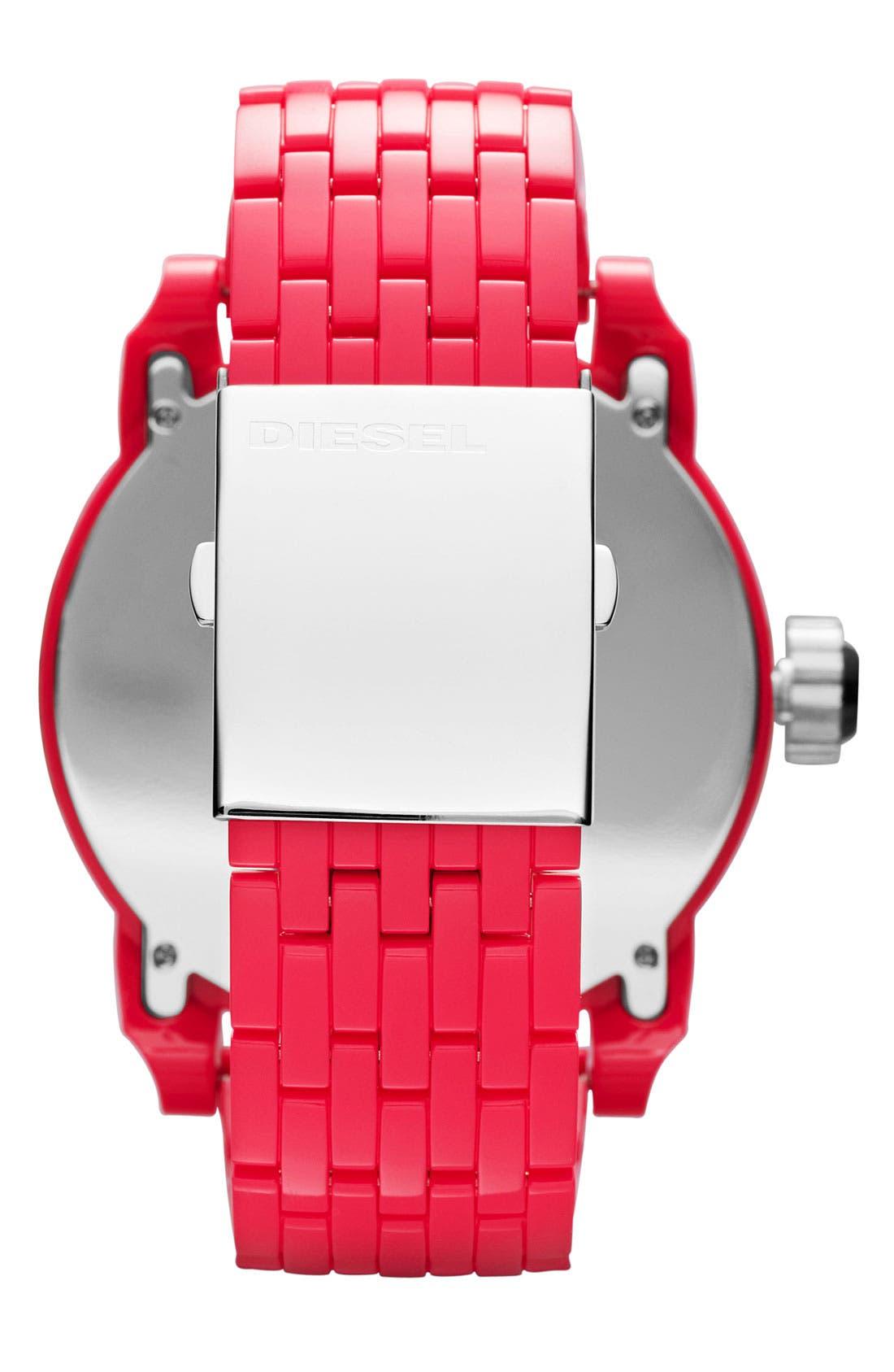 Alternate Image 3  - DIESEL® 'Franchise' Oversized Round Bracelet Watch, 59mm x 67mm