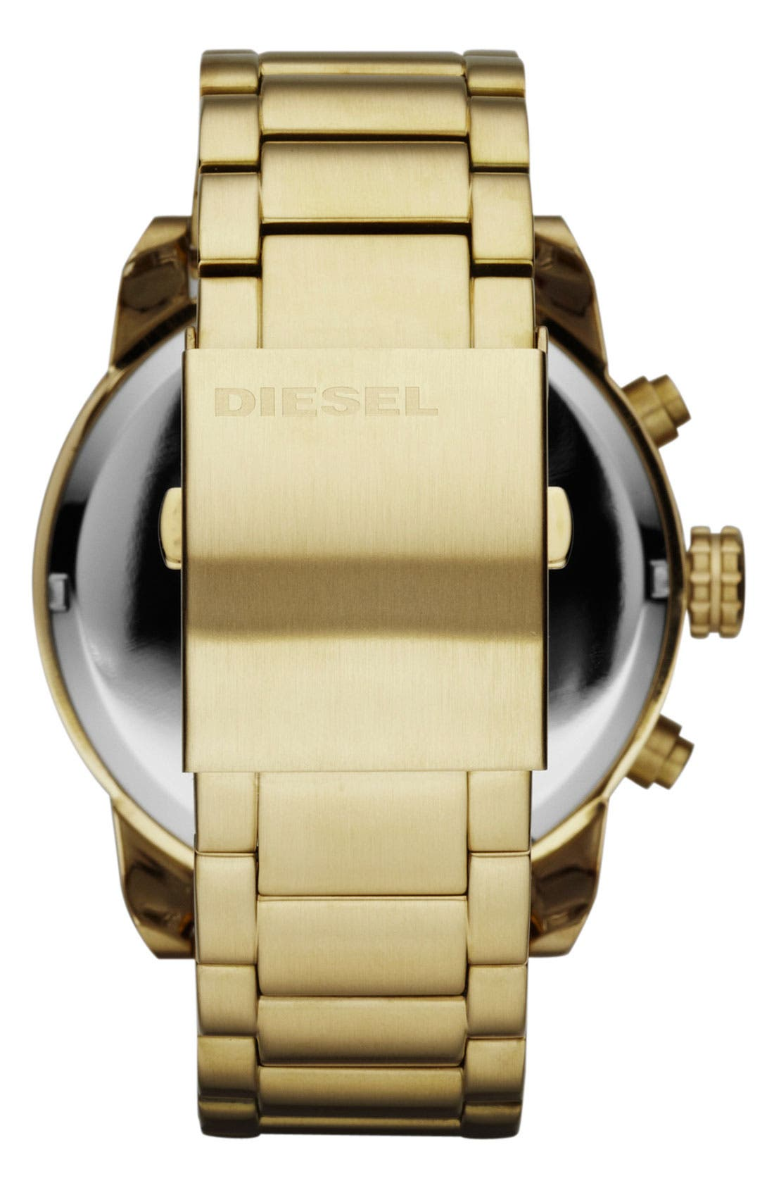 Alternate Image 3  - DIESEL® 'Double Down' Large Chronograph Bracelet Watch, 52mm