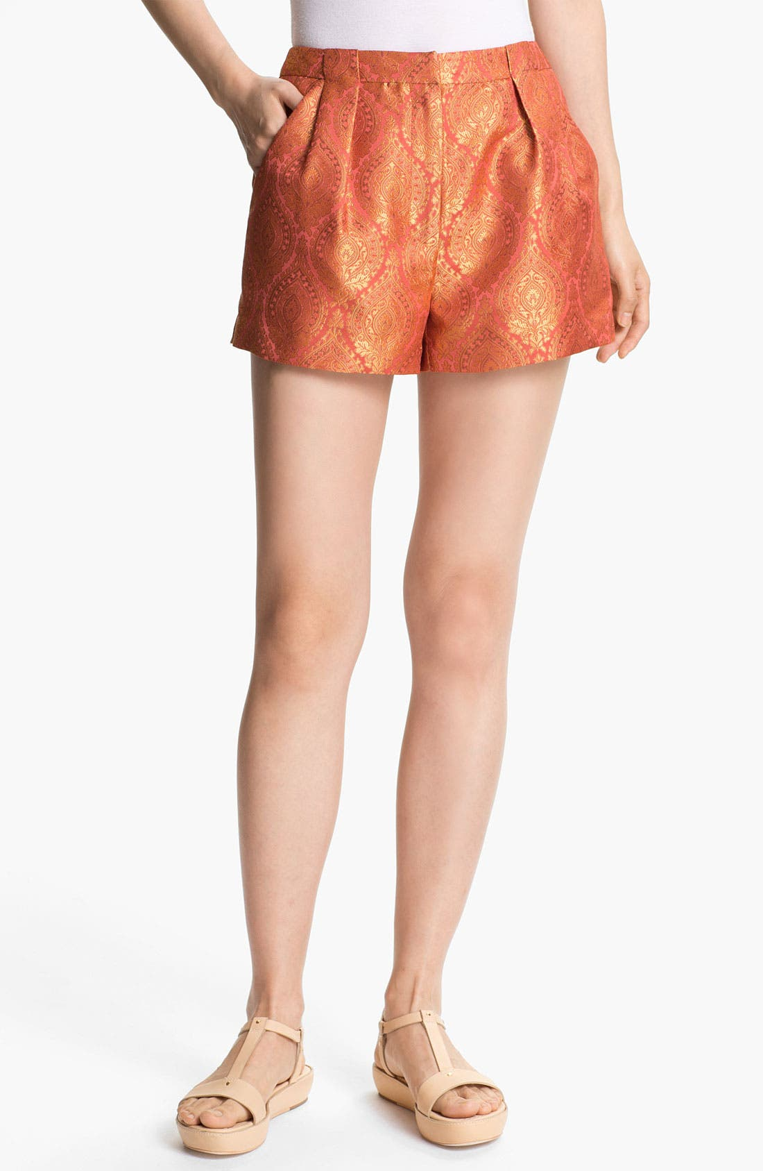 Main Image - Elizabeth and James 'Stevie' Metallic Jacquard Shorts