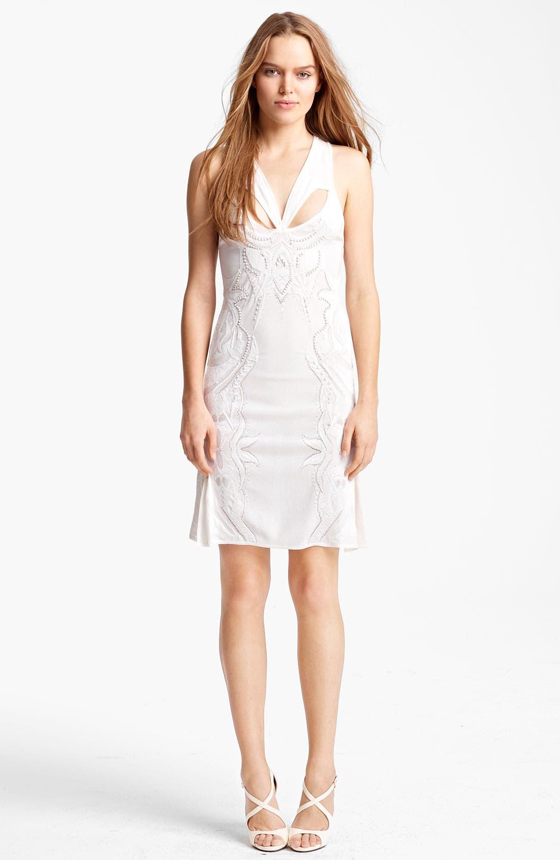 Main Image - Roberto Cavalli Cutout & Embroidered Knit Dress