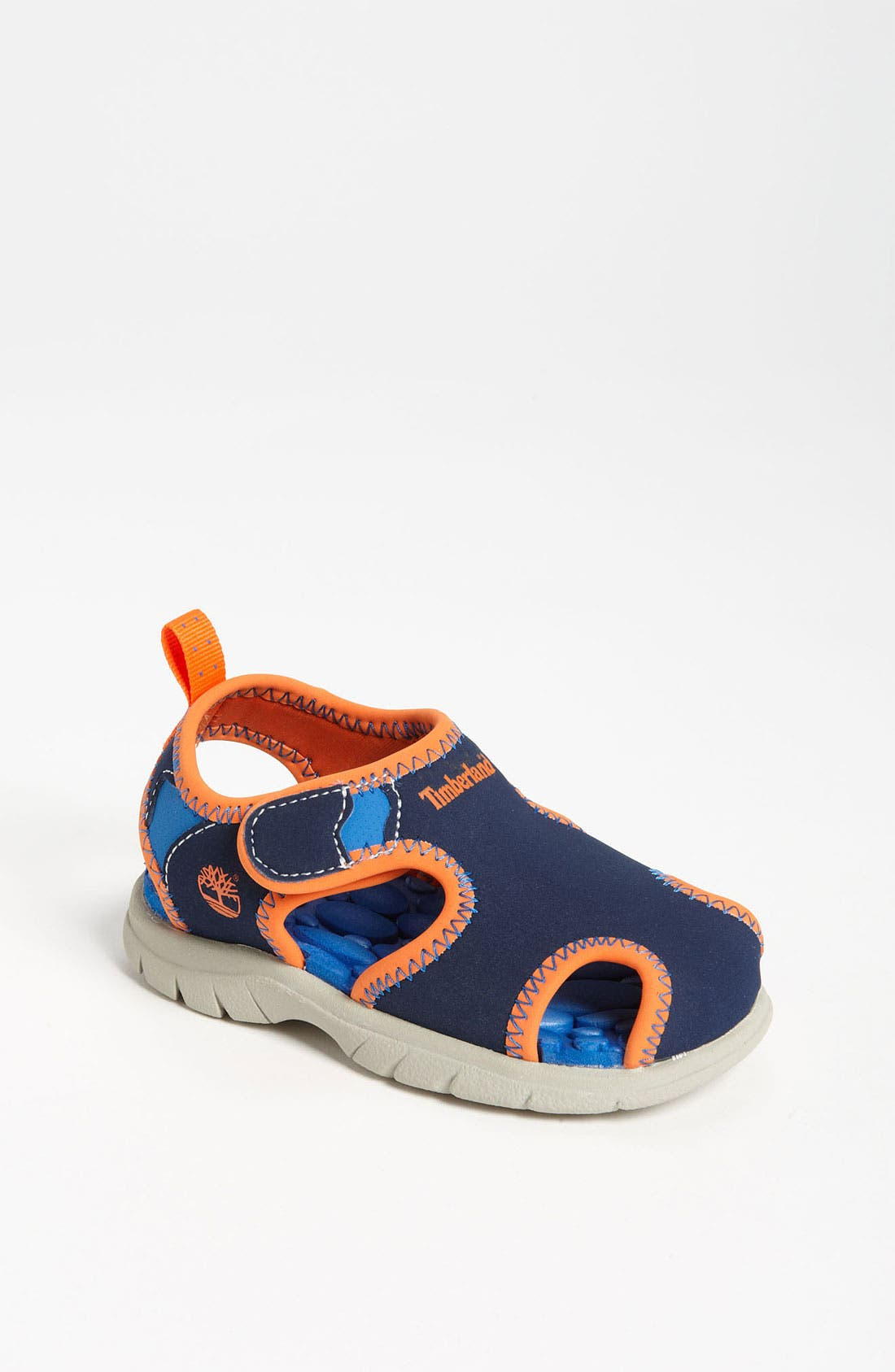 'Little Harbor' Sandal,                         Main,                         color, Navy/ Orange