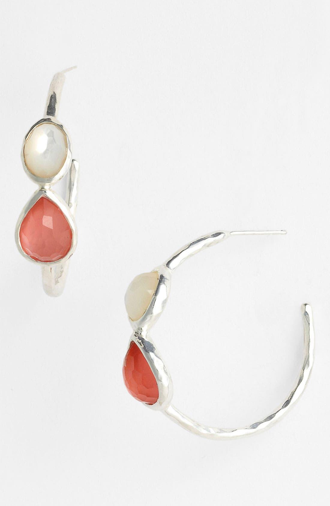 Alternate Image 1 Selected - Ippolita 'Wonderland - Gelato' Two-Stone Small Hoop Earrings (Nordstrom Exclusive)