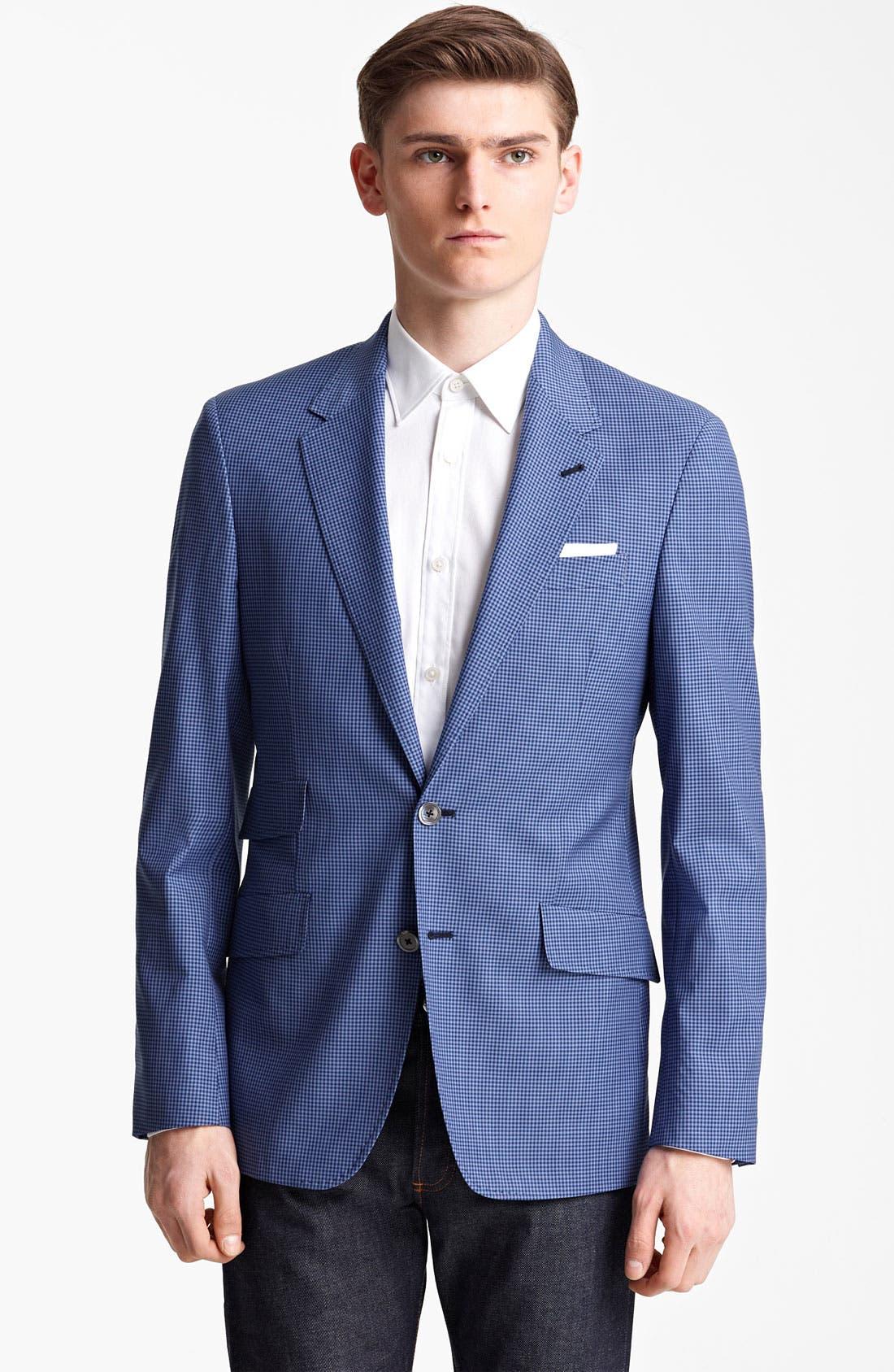 Alternate Image 1 Selected - Paul Smith London Slim Fit Gingham Wool Blazer