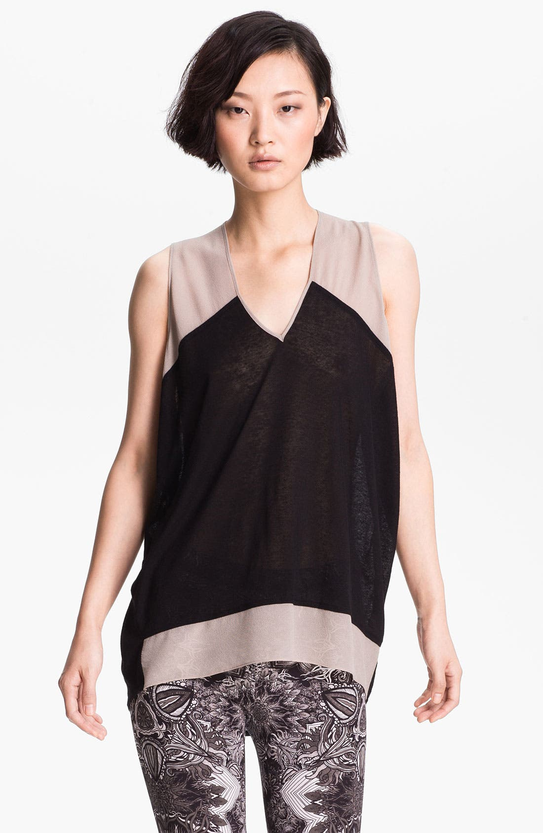Alternate Image 1 Selected - Helmut Lang Contrast Trim Jersey Top