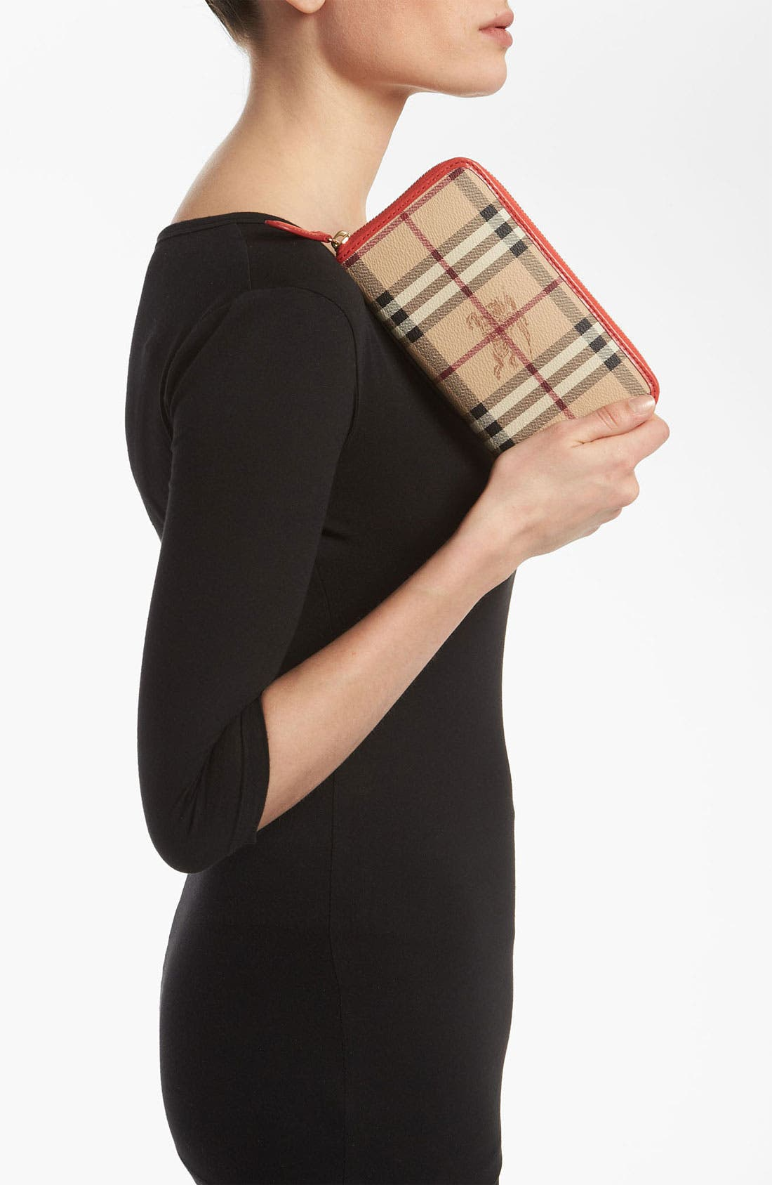 Alternate Image 2  - Burberry 'Haymarket Check' Zip Around Wallet