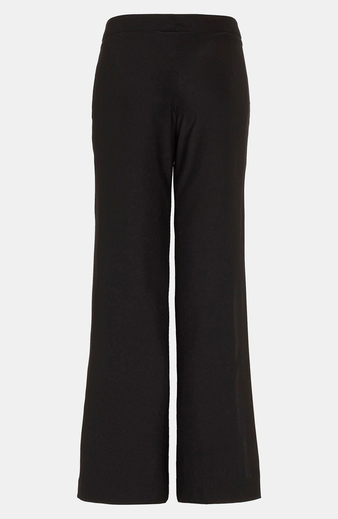 Alternate Image 3  - Topshop Unique Wide Leg Silk Pants