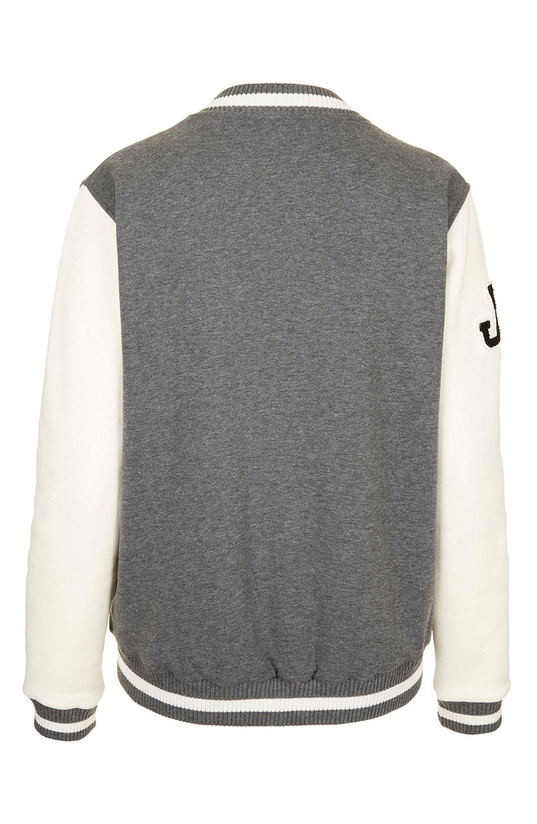 Alternate Image 2  - Topshop Jersey Varsity Jacket