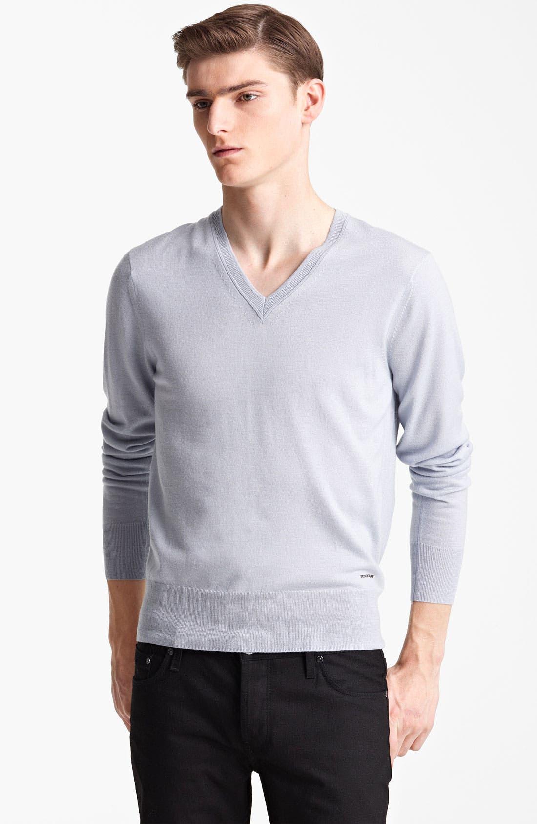 Alternate Image 1 Selected - Burberry London 'Barnett' V-Neck Sweater