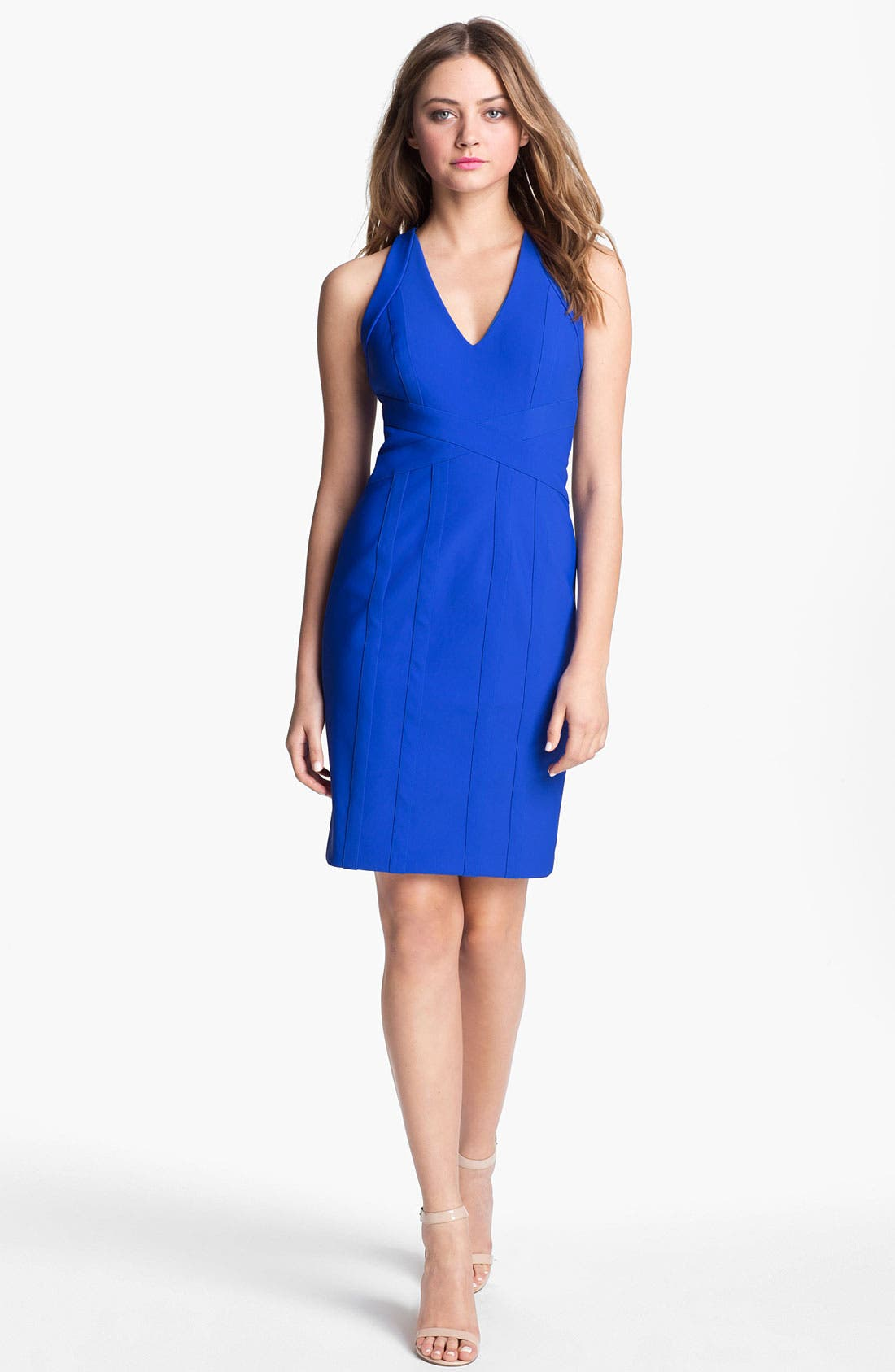Alternate Image 1 Selected - Laundry by Shelli Segal Banded Sheath Dress