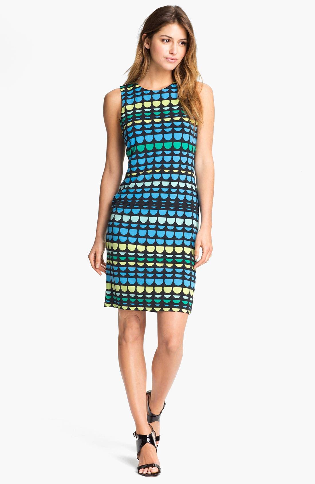 Main Image - Vince Camuto Semi Circle Print Sleeveless Dress