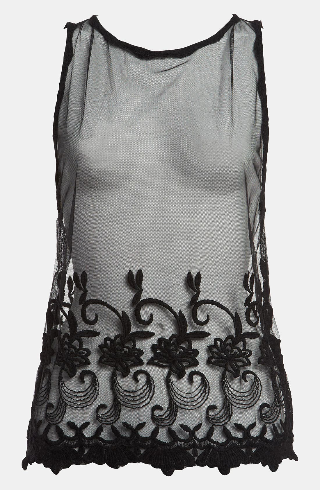 Alternate Image 1 Selected - Tildon Open Back Lace Top