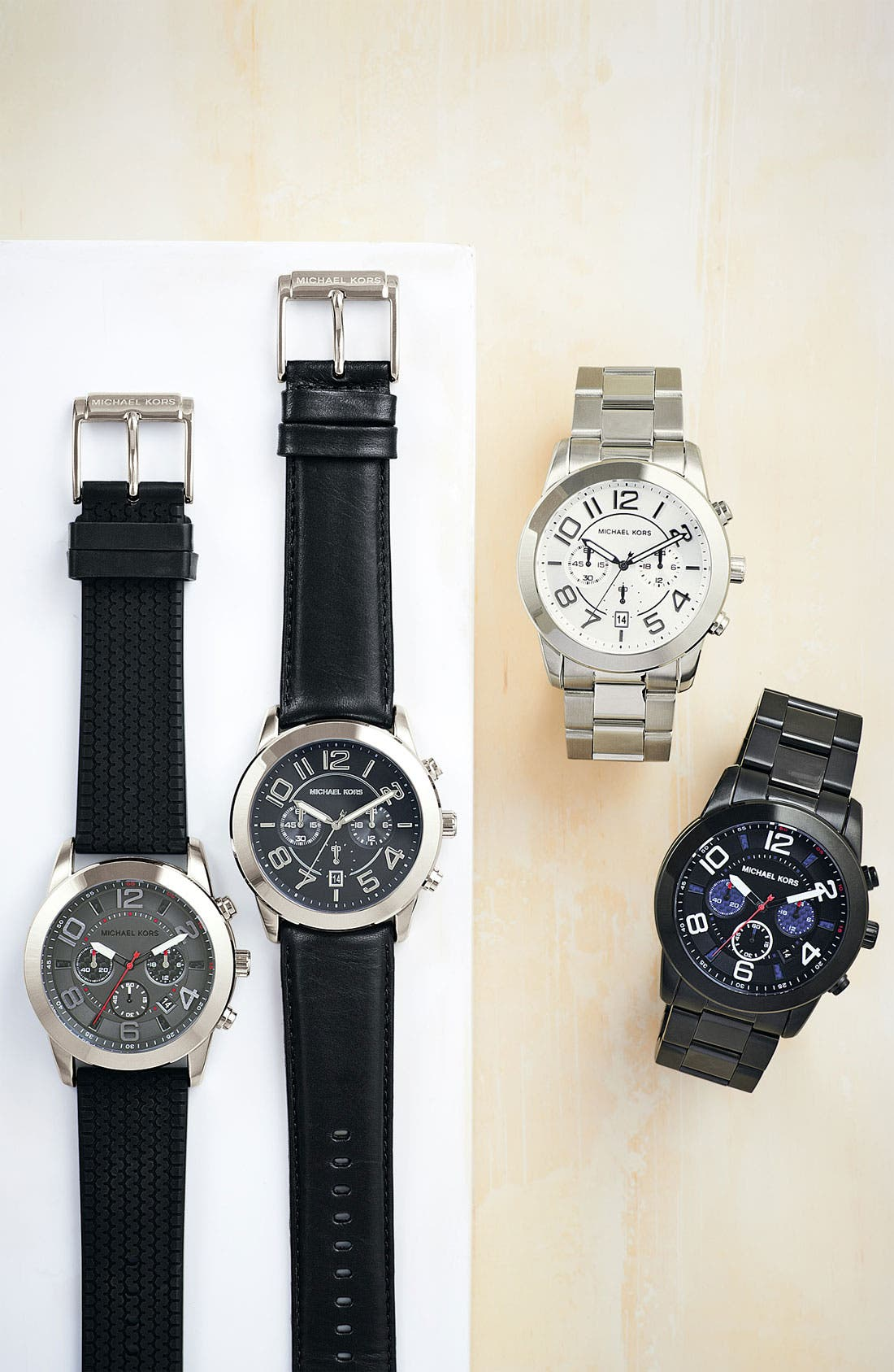 Alternate Image 3  - Michael Kors 'Mercer' Large Chronograph Bracelet Watch, 45mm