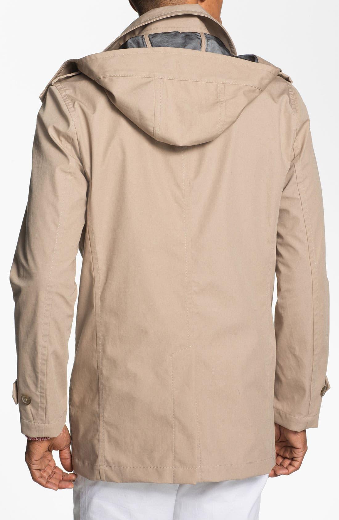 Alternate Image 2  - Michael Kors Hooded Trench Coat
