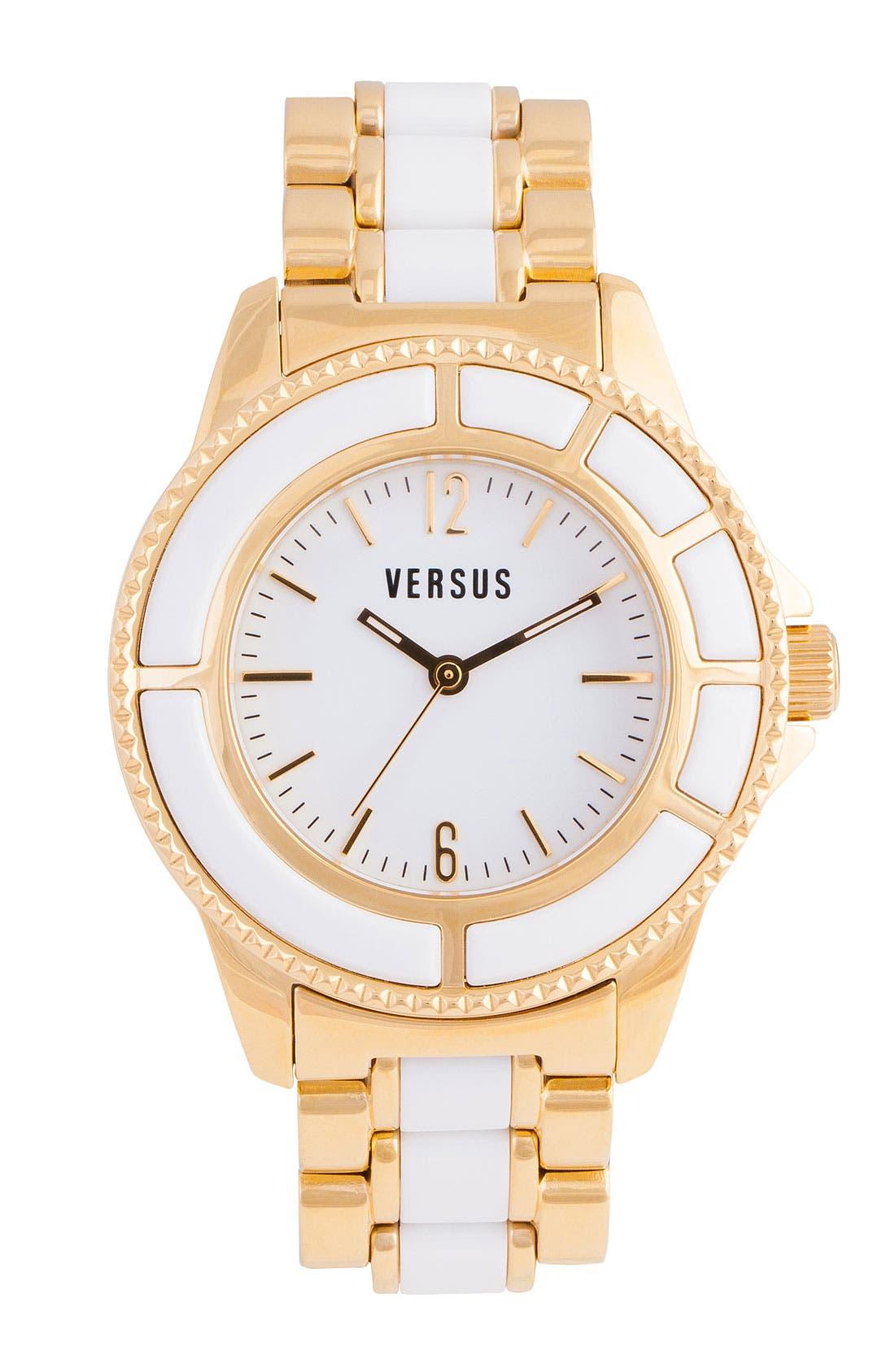 Alternate Image 1 Selected - VERSUS by Versace 'Tokyo' Two Tone Bracelet Watch, 38mm
