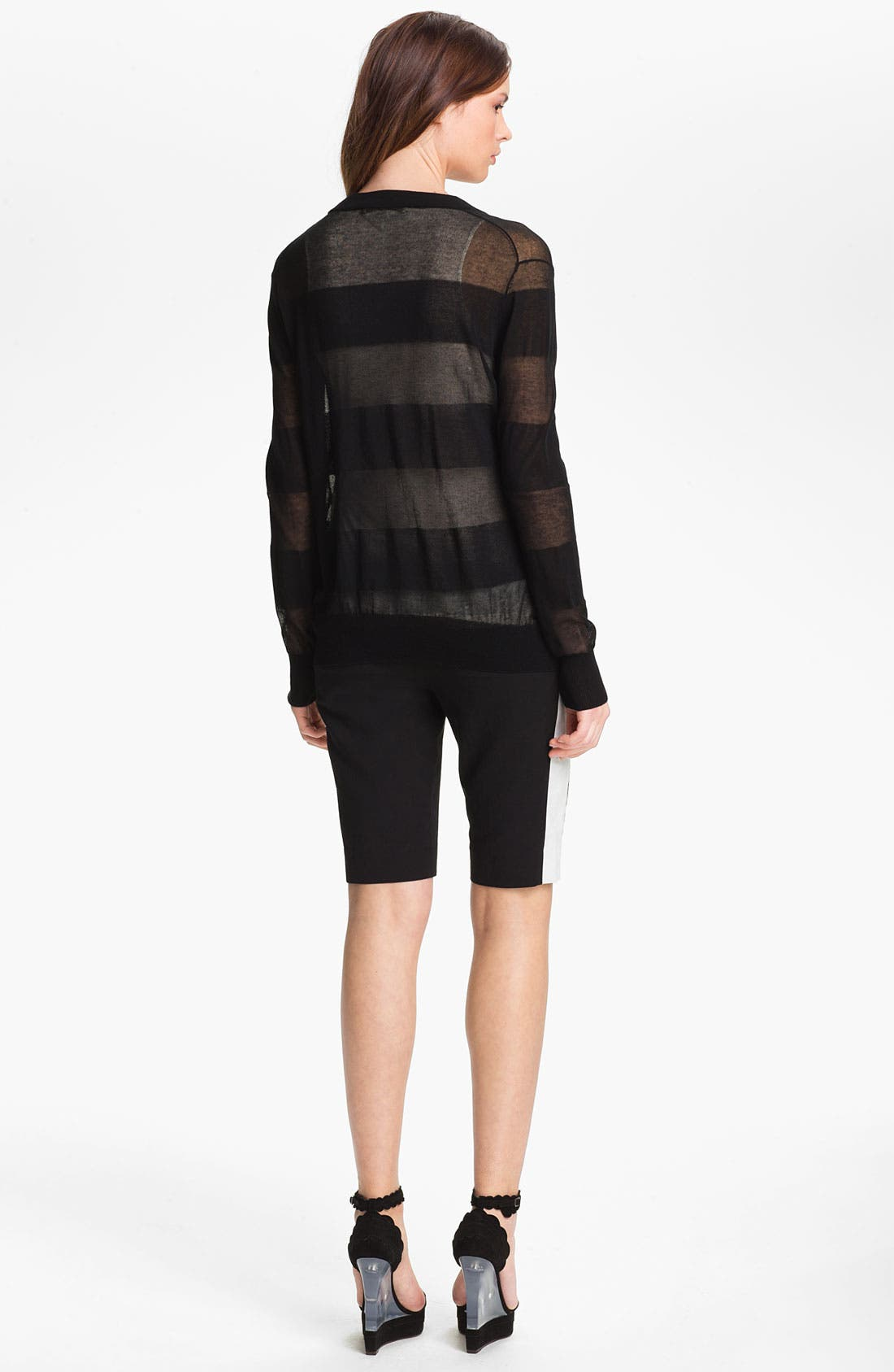 Alternate Image 5  - Halston Heritage Sheer Cardigan