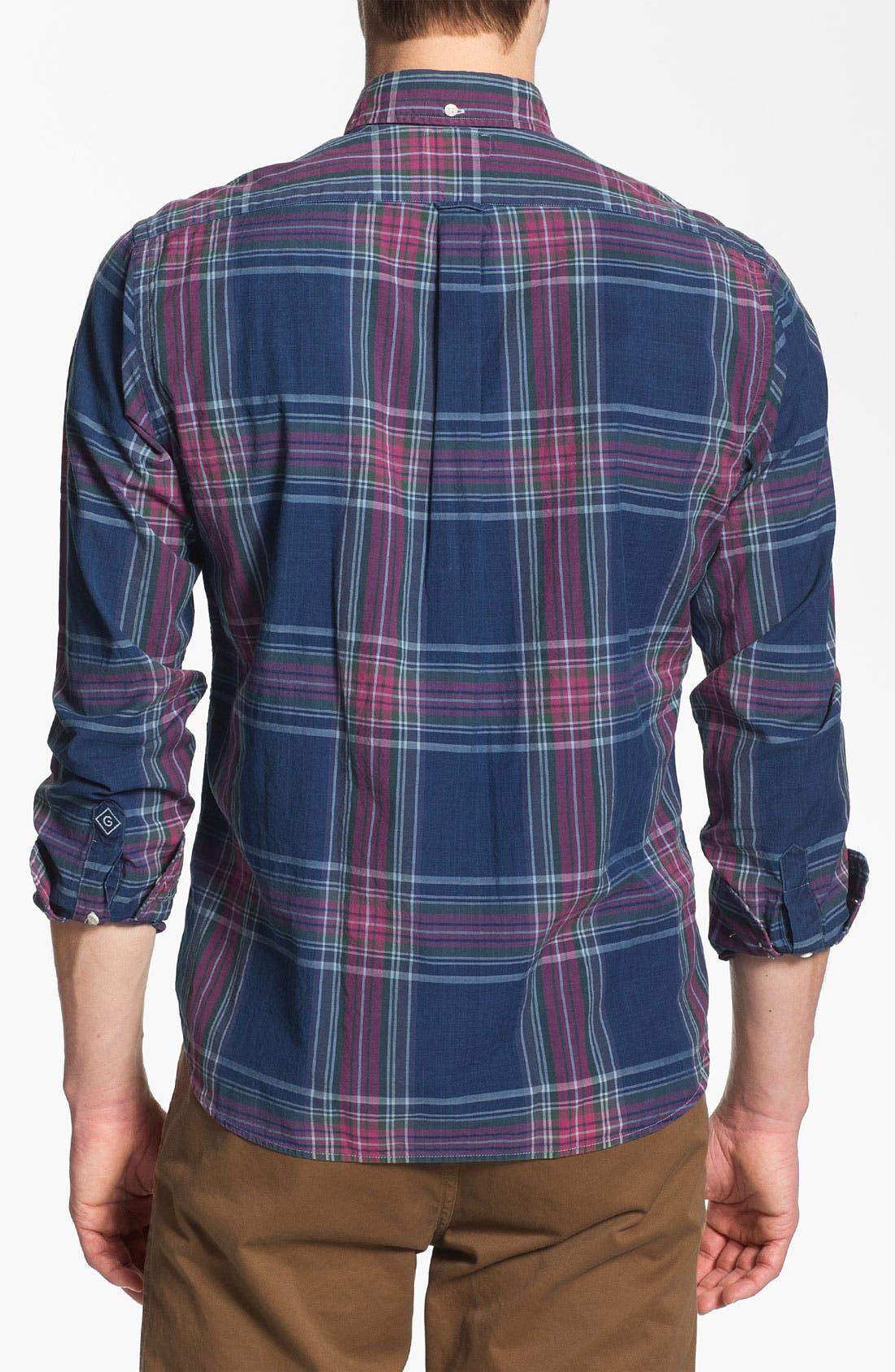 Alternate Image 3  - Gant Rugger Madras Plaid Woven Shirt