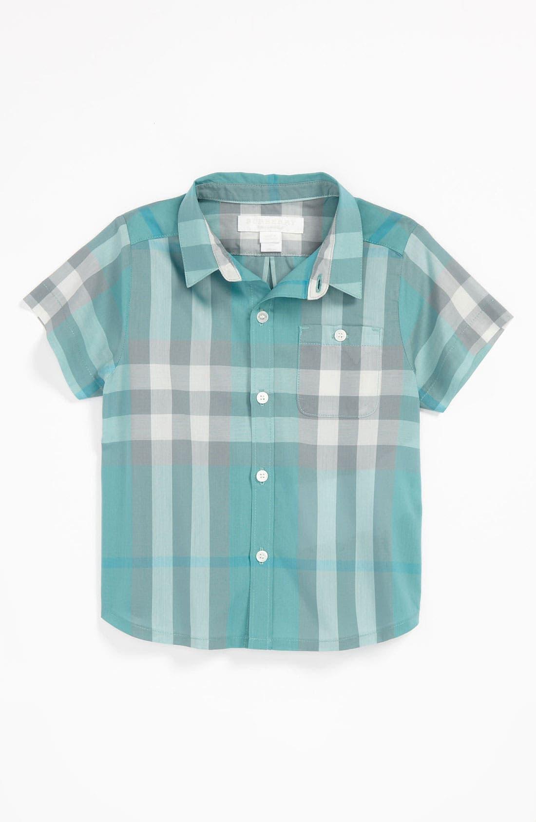 Main Image - Burberry 'Tyson' Shirt (Baby)
