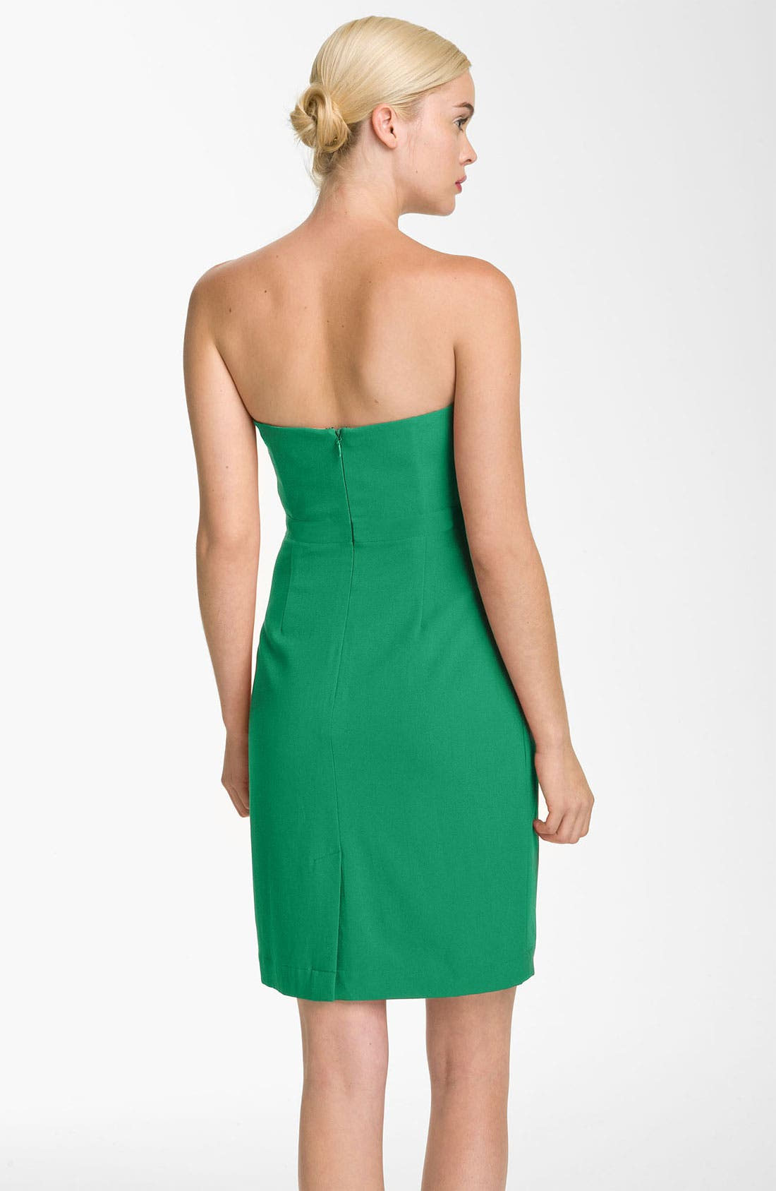 Alternate Image 2  - BCBGMAXAZRIA Sweetheart Neckline Crepe Sheath Dress