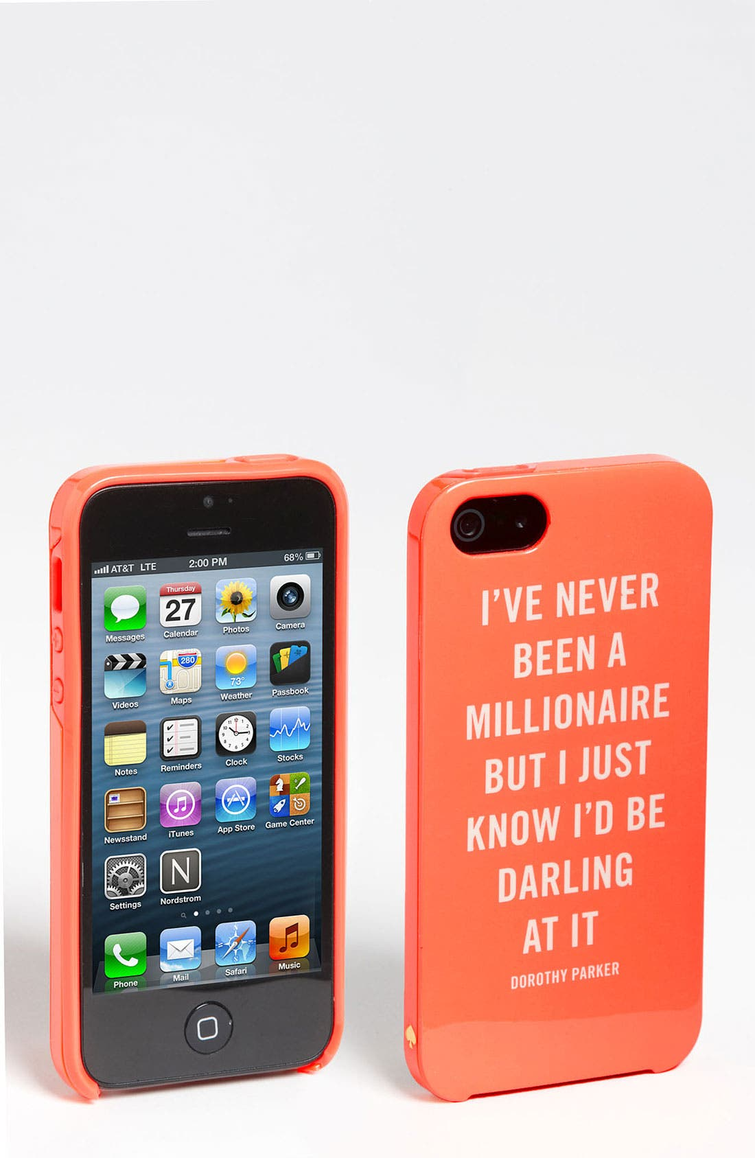 Alternate Image 1 Selected - kate spade new york 'millionaire quote' iPhone 5 & 5S case