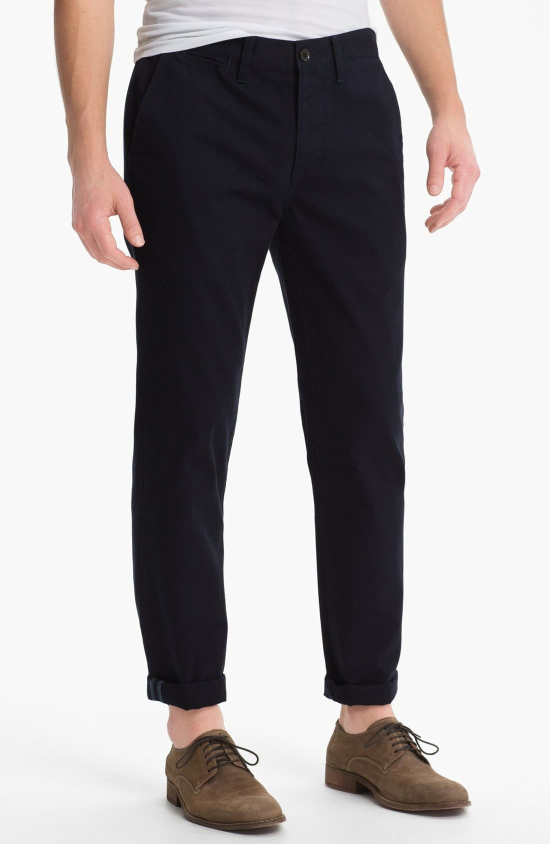 Alternate Image 1 Selected - Topman Slim Fit Cotton Chinos