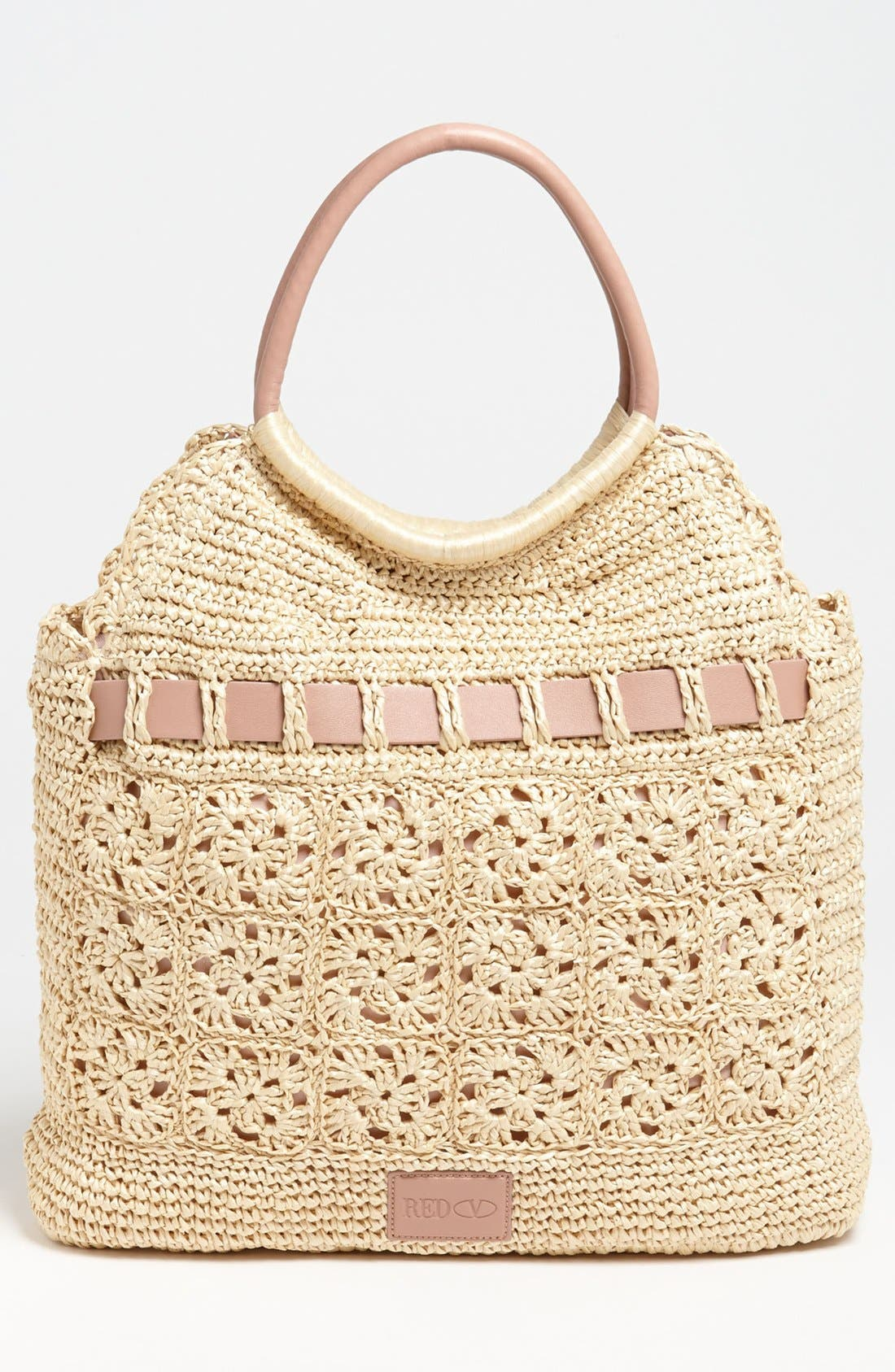 Alternate Image 4  - RED Valentino Crochet Raffia Hobo