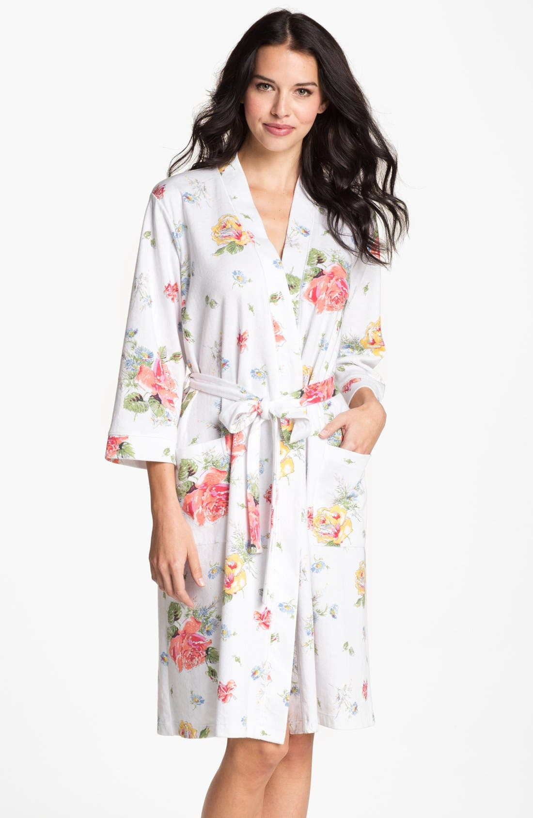 Alternate Image 1 Selected - Carole Hochman Designs Floral Print Robe