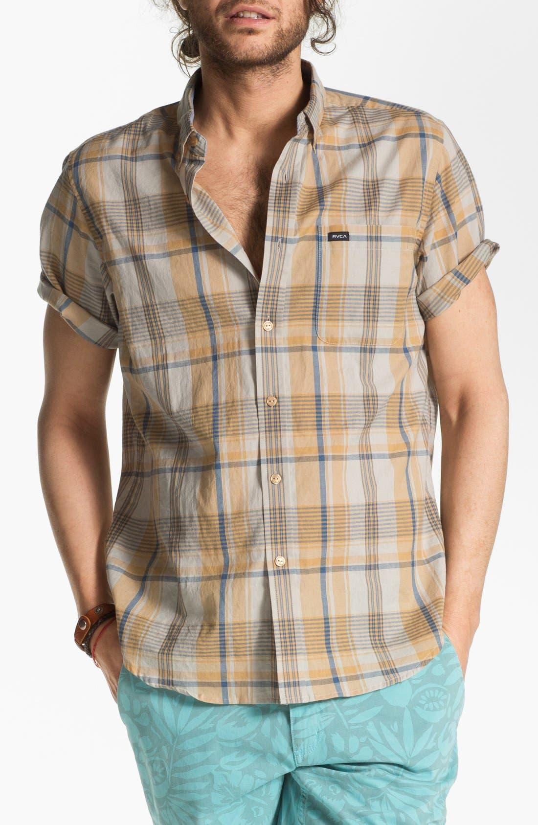 Main Image - RVCA 'Nettle' Plaid Woven Shirt