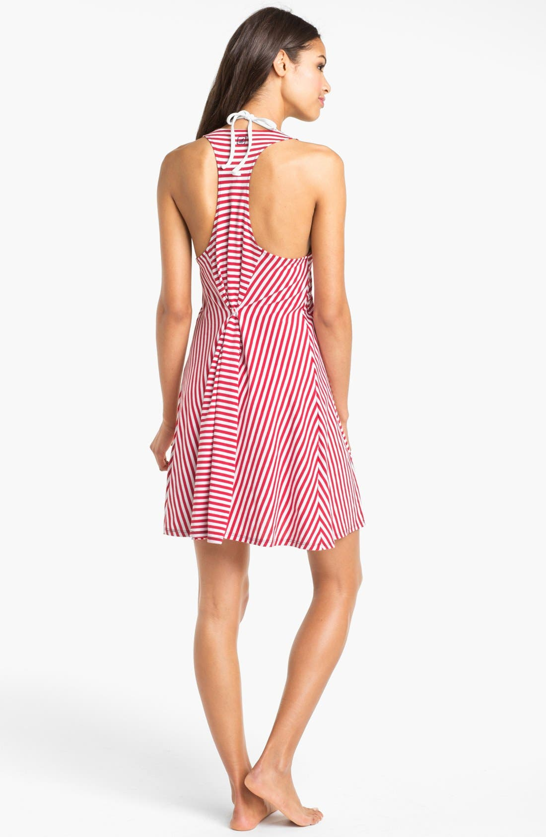 Alternate Image 2  - Sperry Top-Sider® Stripe Knit Cover-Up Dress