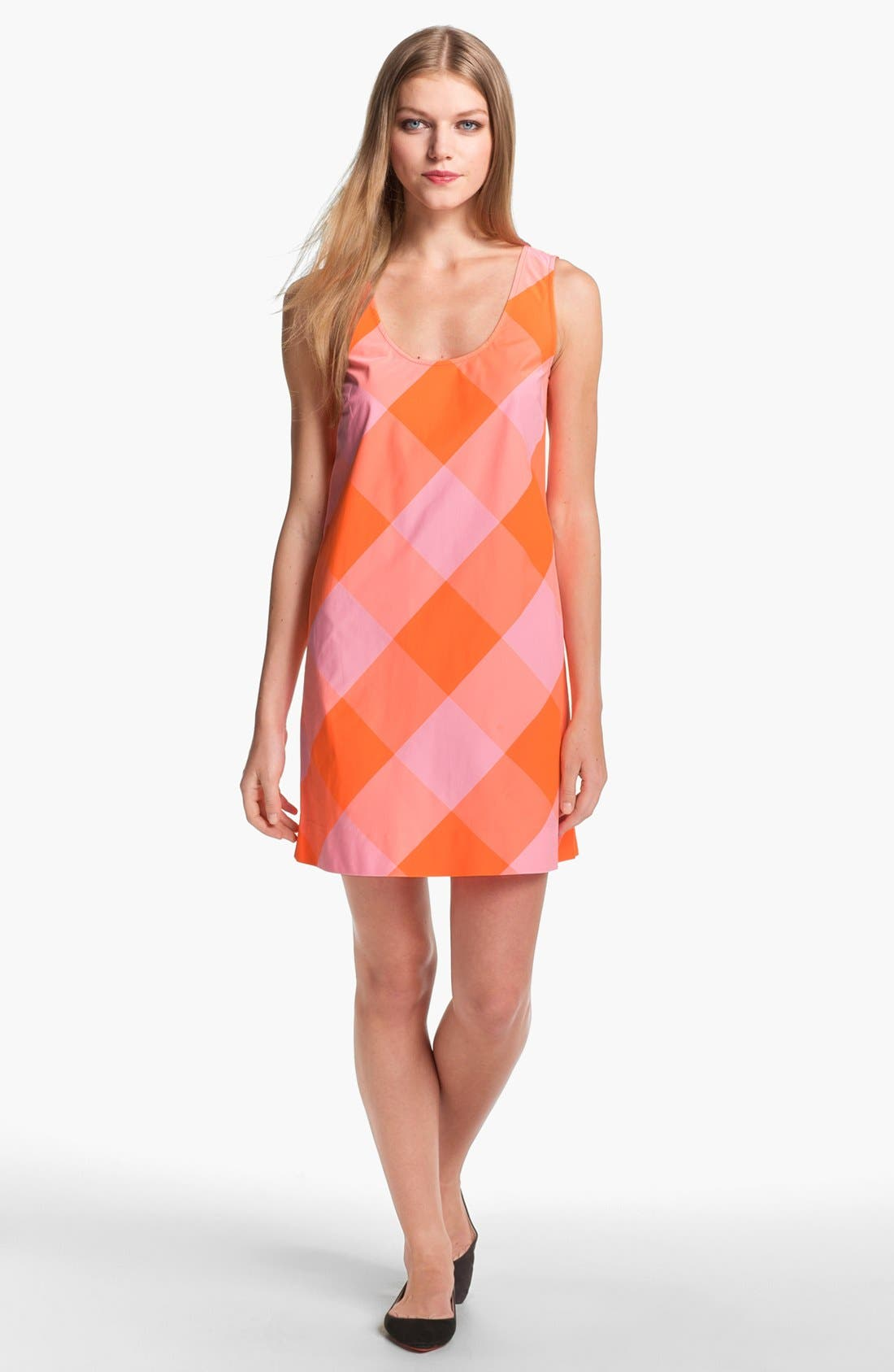 Alternate Image 1 Selected - MARC BY MARC JACOBS 'Stacy' Check Shift Dress