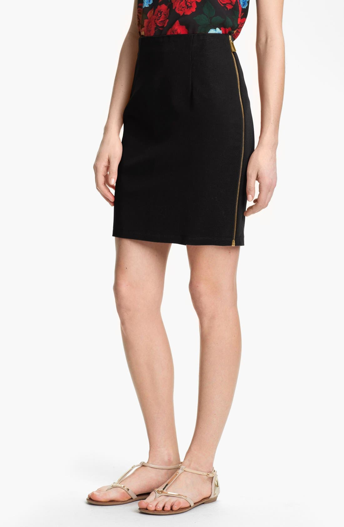 Alternate Image 1 Selected - Vince Camuto Side Zip Skirt