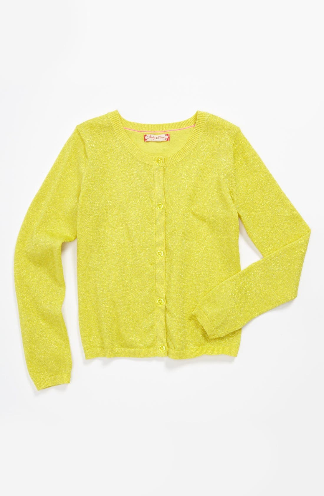 Main Image - Ruby & Bloom 'Sparkle' Cardigan (Big Girls)