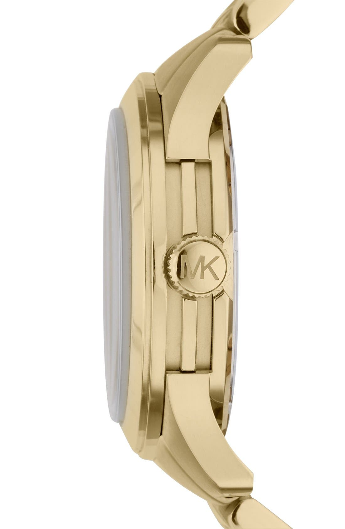 Alternate Image 2  - Michael Kors 'Large Runway' Bracelet Watch, 44mm