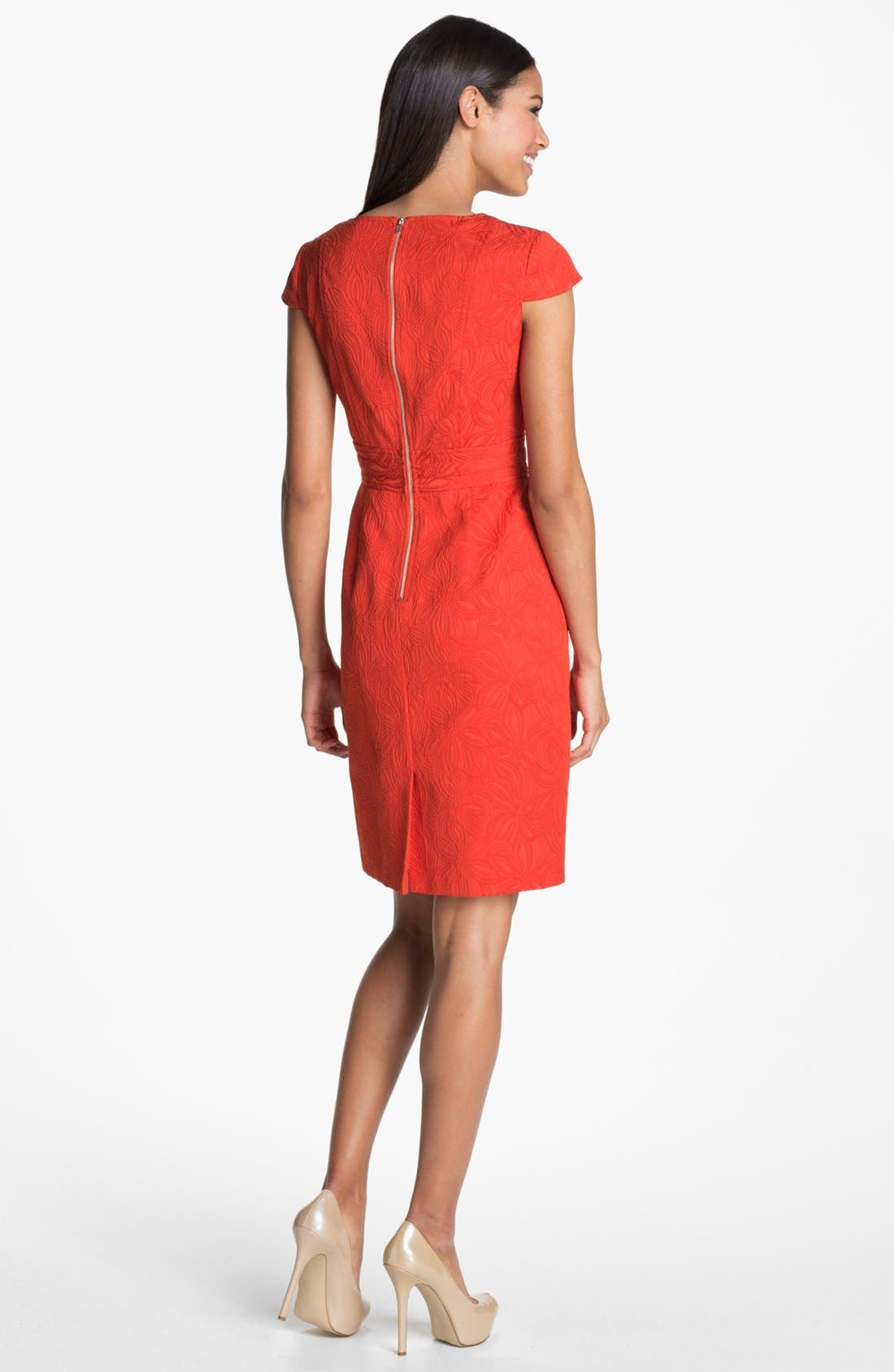 Alternate Image 2  - Adrianna Papell Floral Jacquard Sheath Dress
