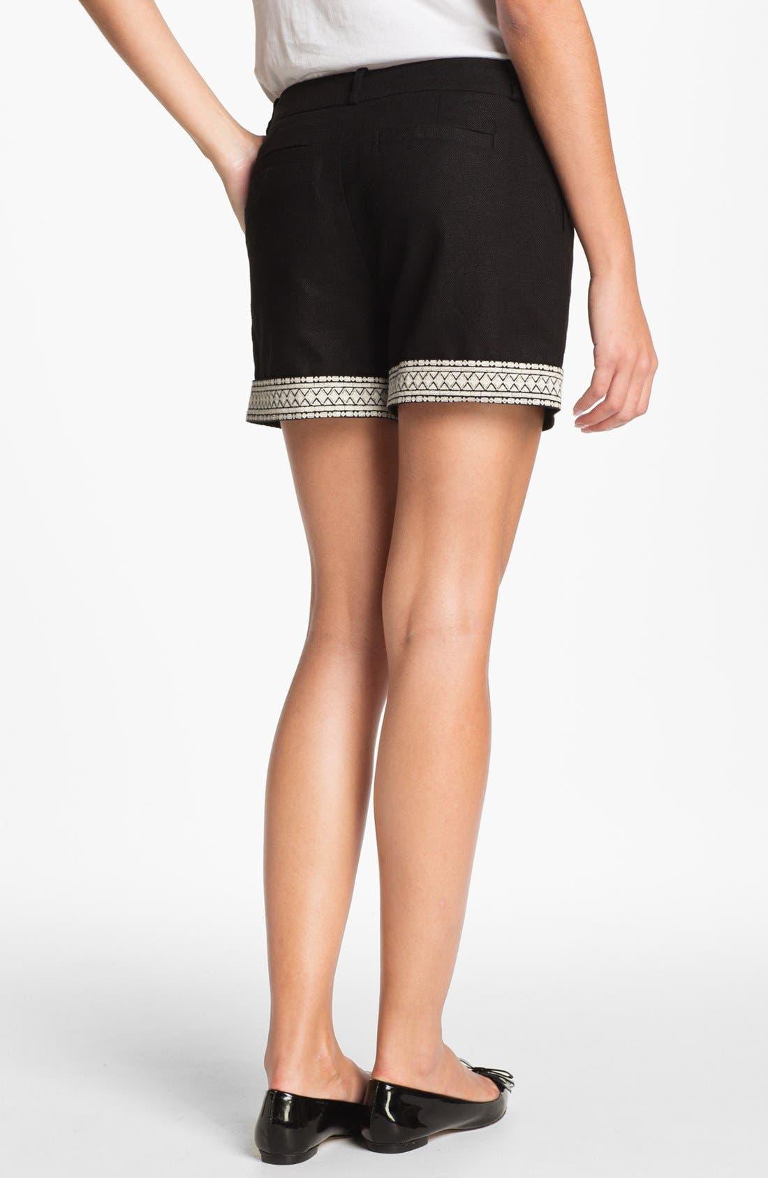 Alternate Image 2  - kate spade new york 'roslyn' embroidered shorts