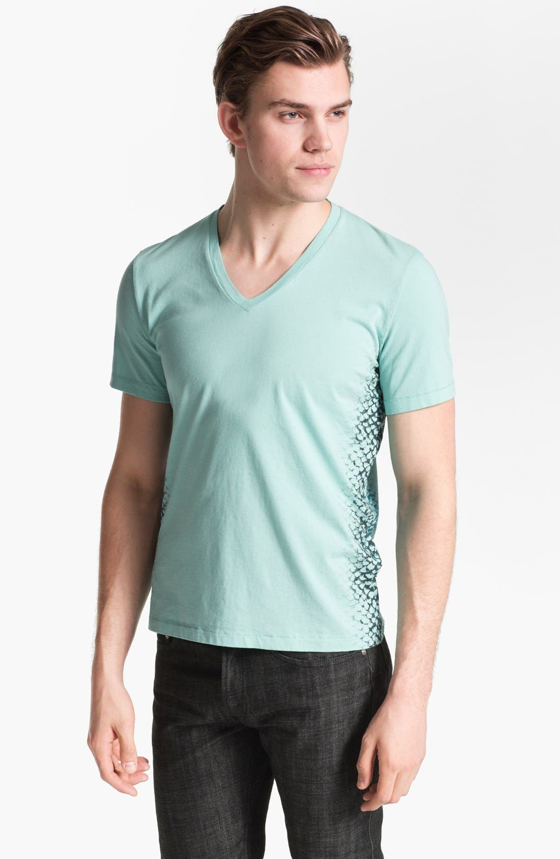 Alternate Image 1 Selected - Just Cavalli Graphic V-Neck T-Shirt