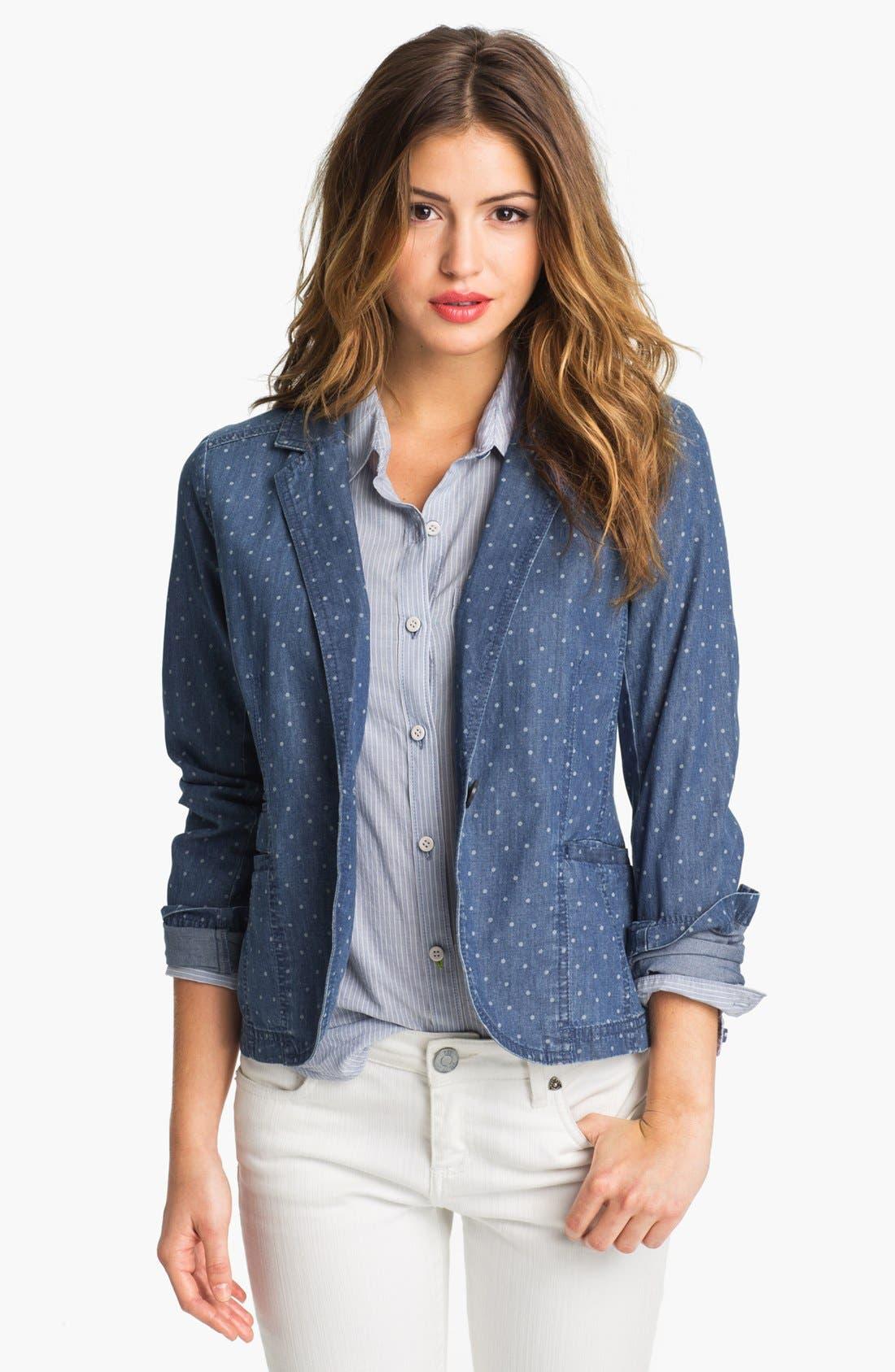 Alternate Image 1 Selected - Caslon® Dot Print Jacket (Petite)